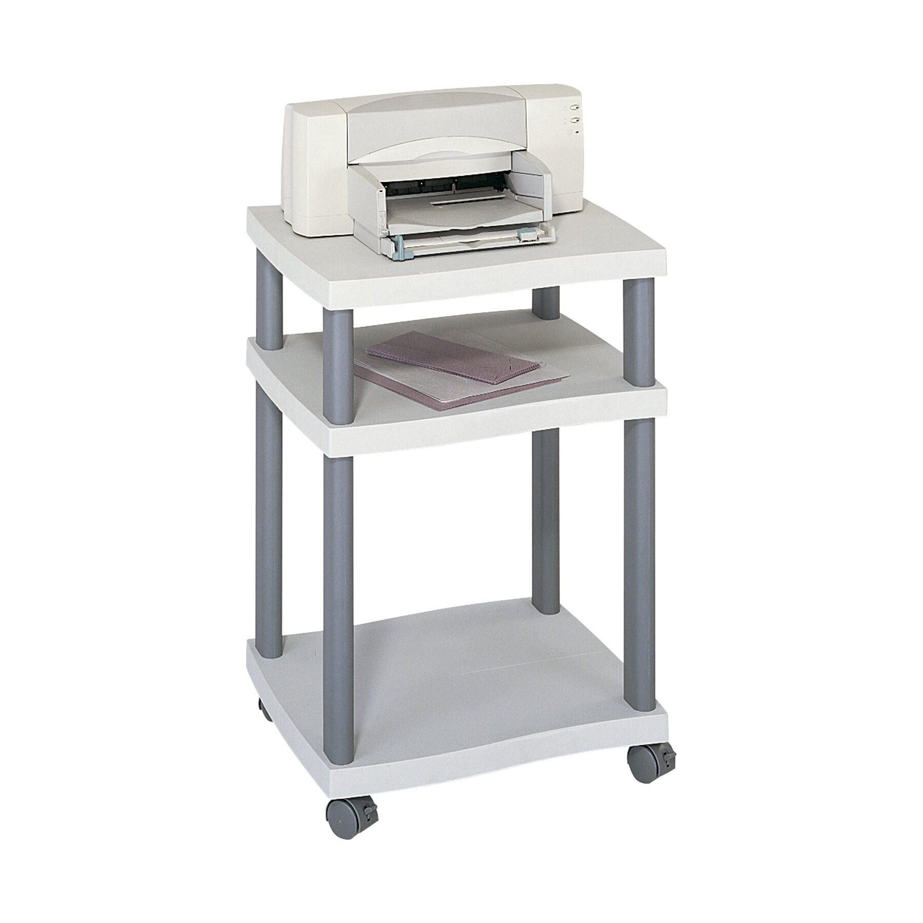 Safco Wave Mobile Printer Stand With 2 Shelves Amp Reviews