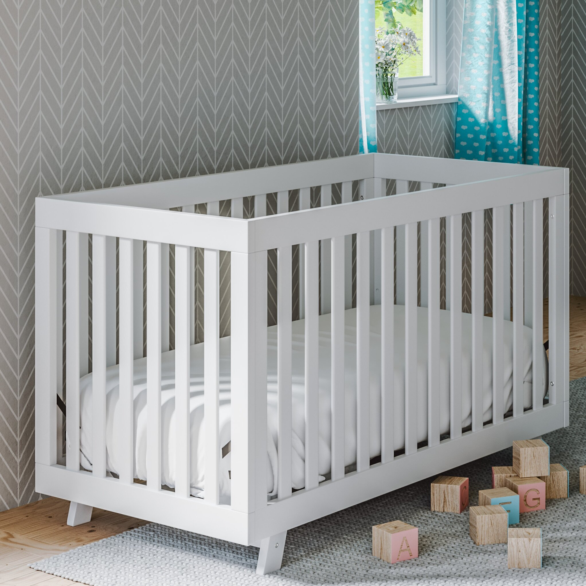 Crib for sale sheffield - Status Furniture Beckett 3 In 1 Convertible Crib