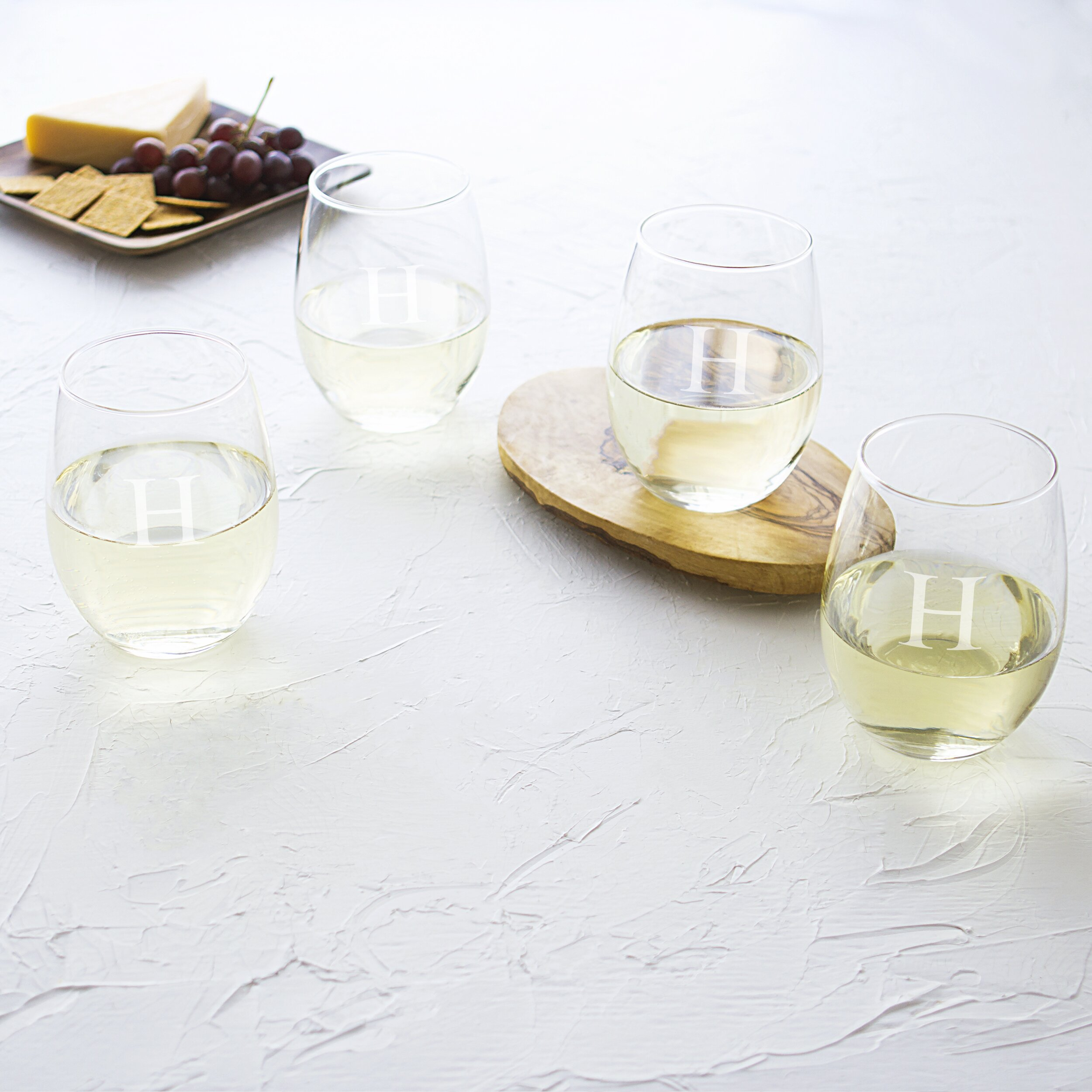Wedding Personalized Stemless Wine Glasses lila personalized stemless wine glass reviews joss main cathys concepts glass