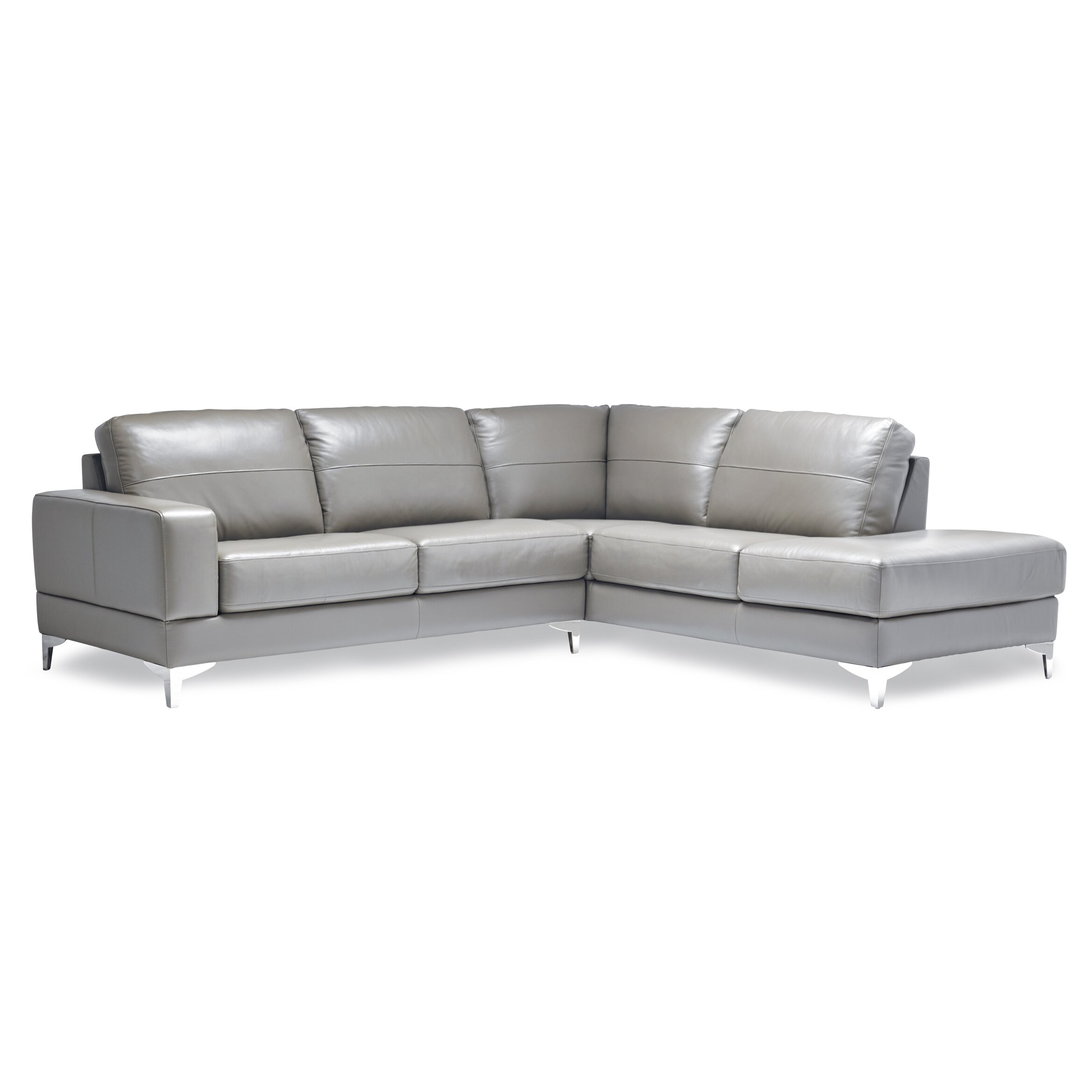 sofas to go finch leather sectional reviews wayfair. Black Bedroom Furniture Sets. Home Design Ideas