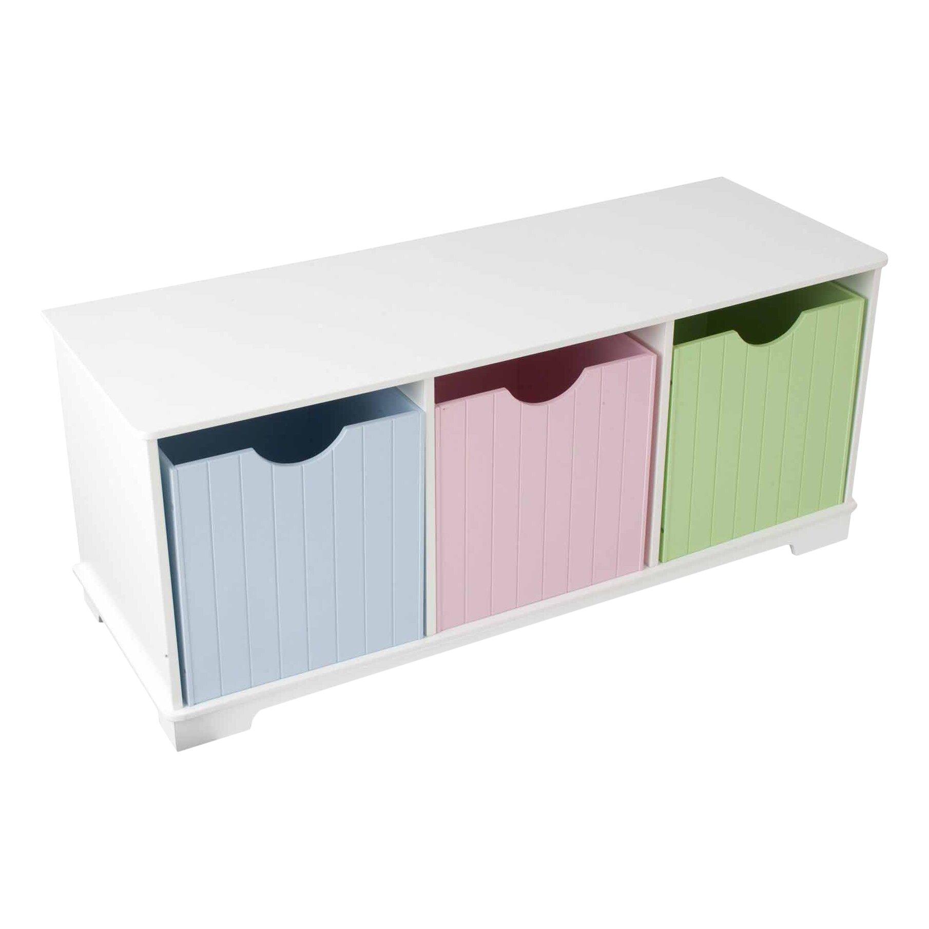 Kidkraft скамья с ящиками storage bench пастель - купите в ф.