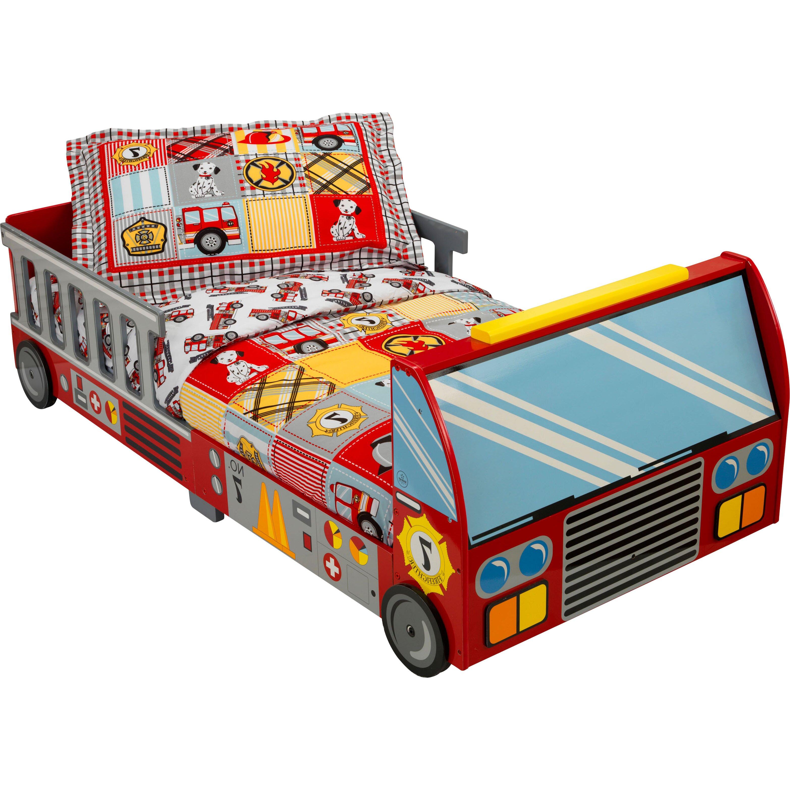 KidKraft Fire Truck Toddler Car Bed & Reviews | Wayfair.co.uk