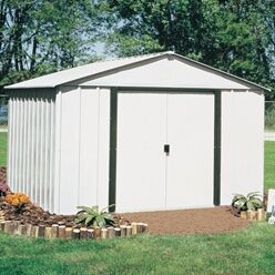 Arrow Arlington 10 ft. W x 12 ft. D Metal Storage Shed & Reviews