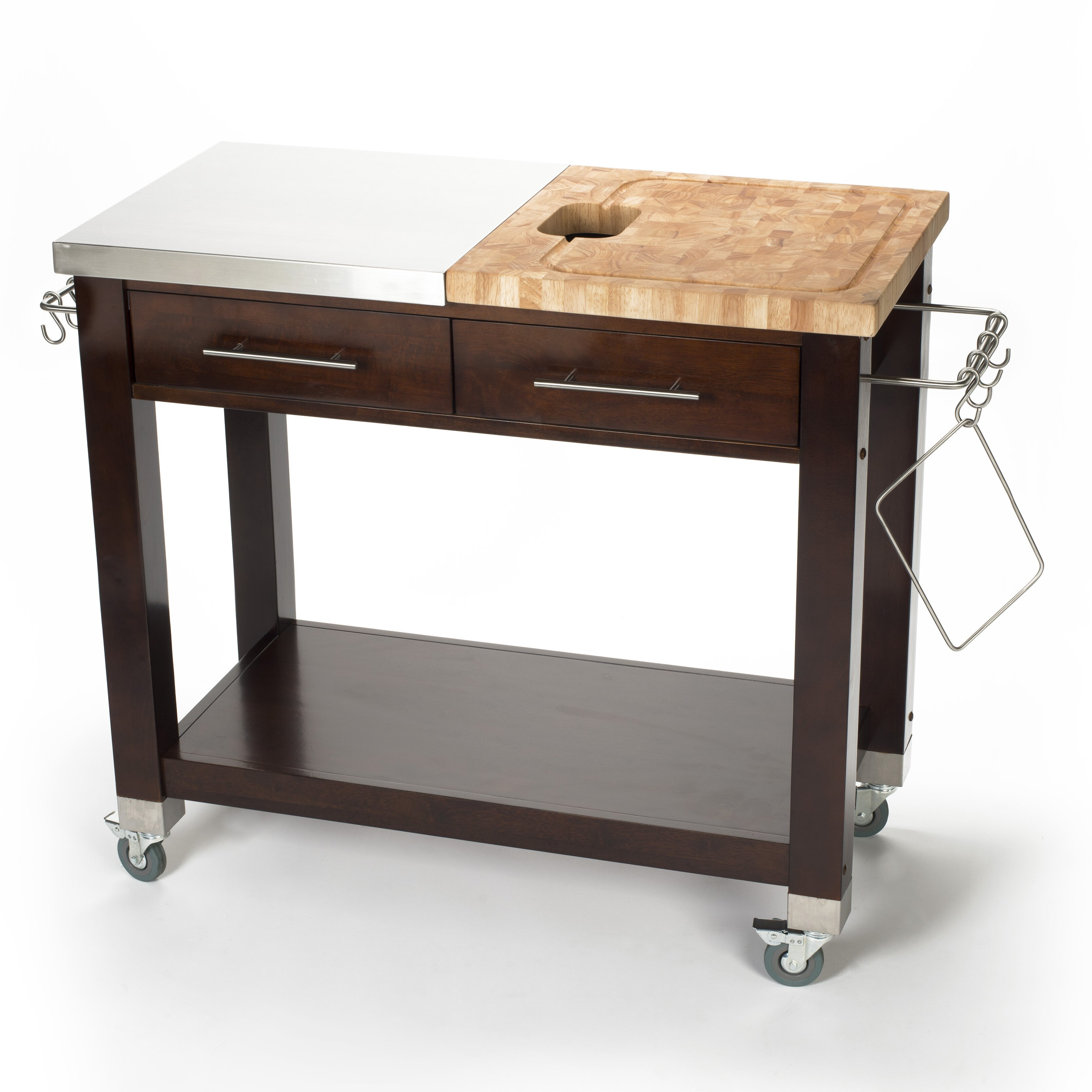 marvelous Kitchen Island With Chopping Block Top #7: Chris u0026amp; Chris Pro Chef Kitchen Island with Butcher Block Top