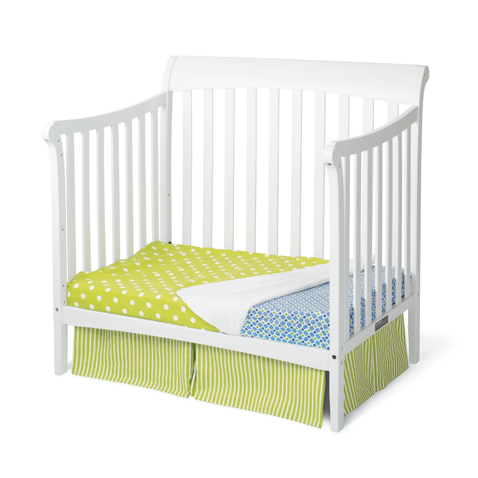 Mattress for baby crib - Child Craft Ashton 4 In 1 Convertible Mini Crib With Mattress