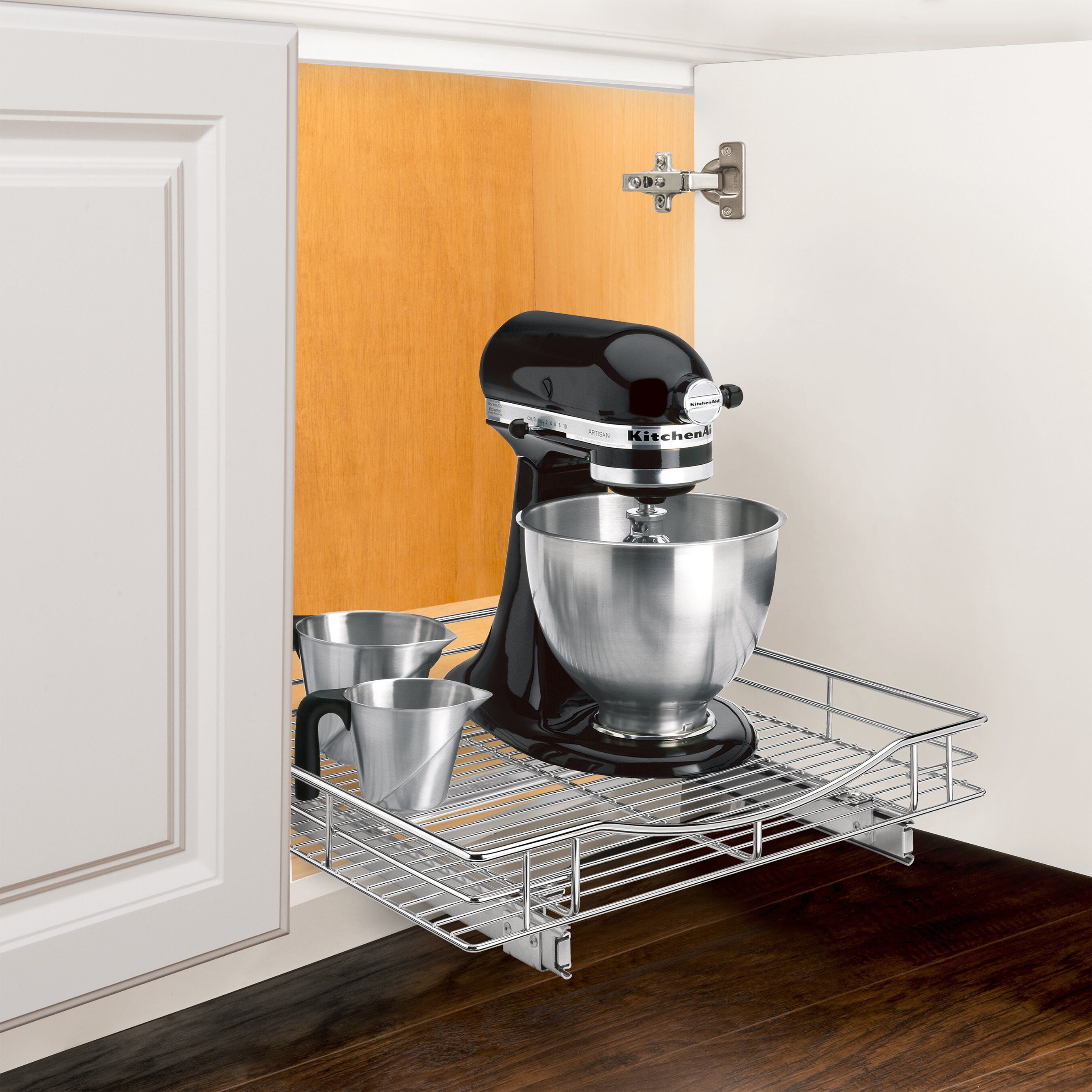 Under Cabinet Shelving Kitchen Lynk Roll Out Cabinet Organizer Pull Out Drawer Under Cabinet