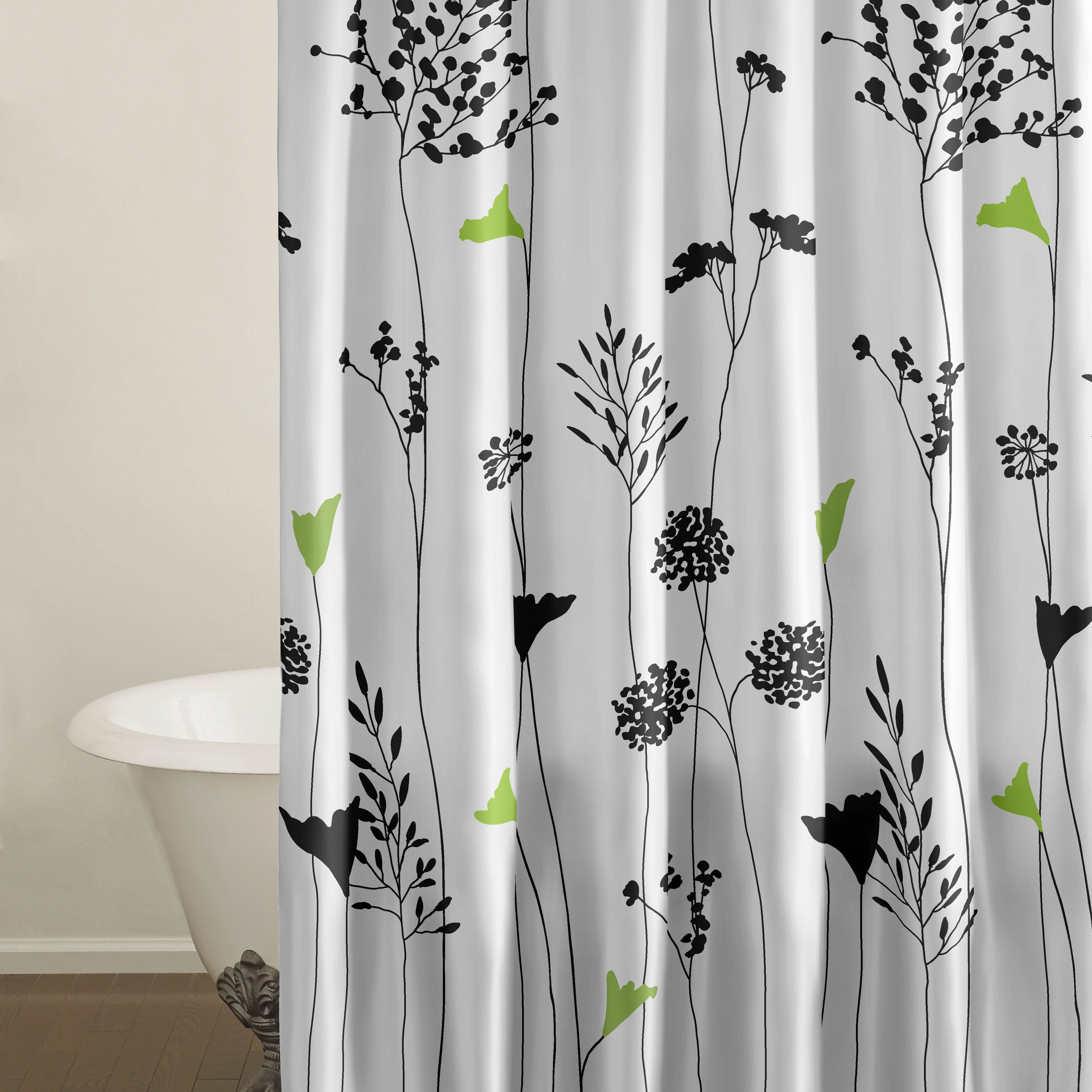 Perry Ellis Asian Lily Cotton Shower Curtain  Reviews Wayfair - Shower curtain