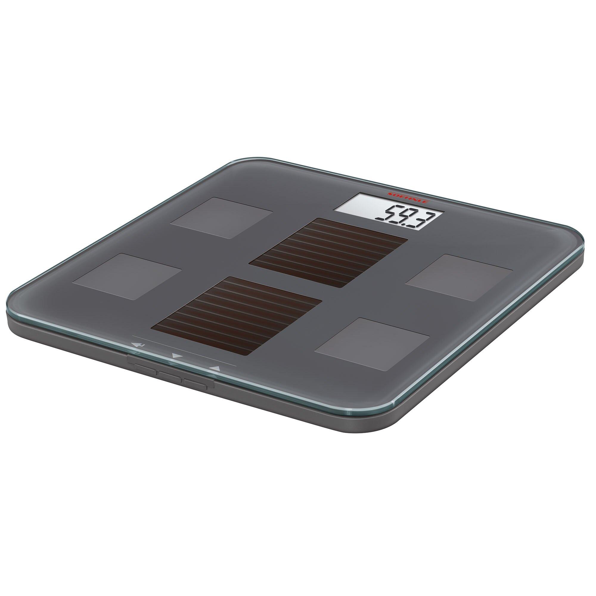 Black Bathroom Scales Soehnle Solar Fit Body Precision Digital Analysis Bmi Bathroom