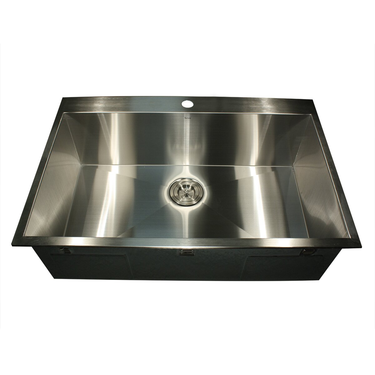 Best Rated Stainless Steel Sinks : ... Single Hole Topmount Stainless Steel Kitchen Sink by Nantucket Sinks
