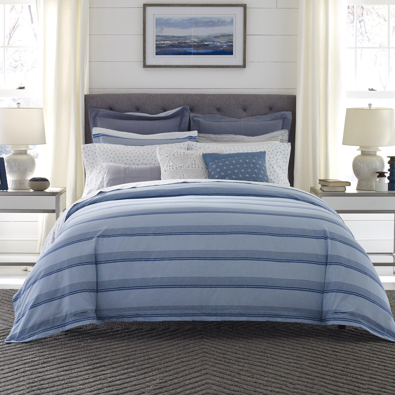 Tommy hilfiger westbourne stripe reversible comforter set for Tommy hilfiger bedroom furniture