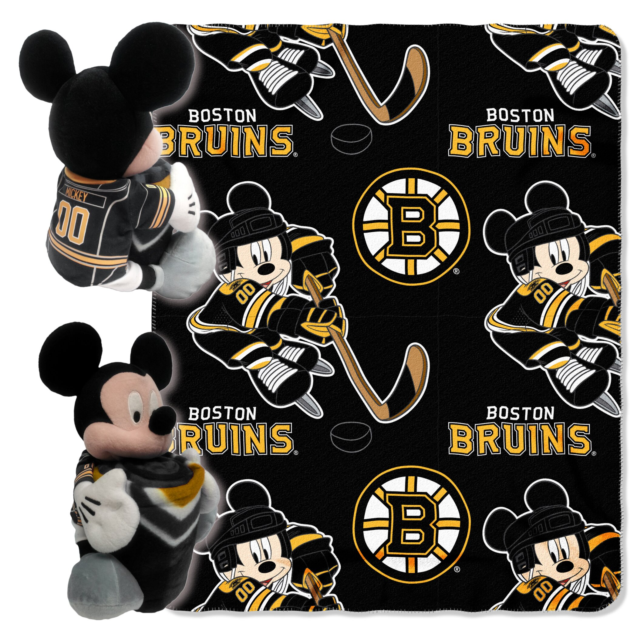 Northwest Co Nhl Mickey Mouse Throw Amp Reviews Wayfair