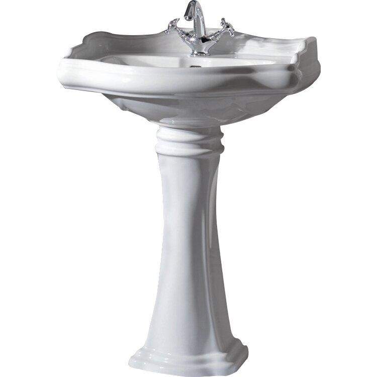 ws bath collections kerasan retro free standing bathroom pedestal sink reviews wayfair. Black Bedroom Furniture Sets. Home Design Ideas