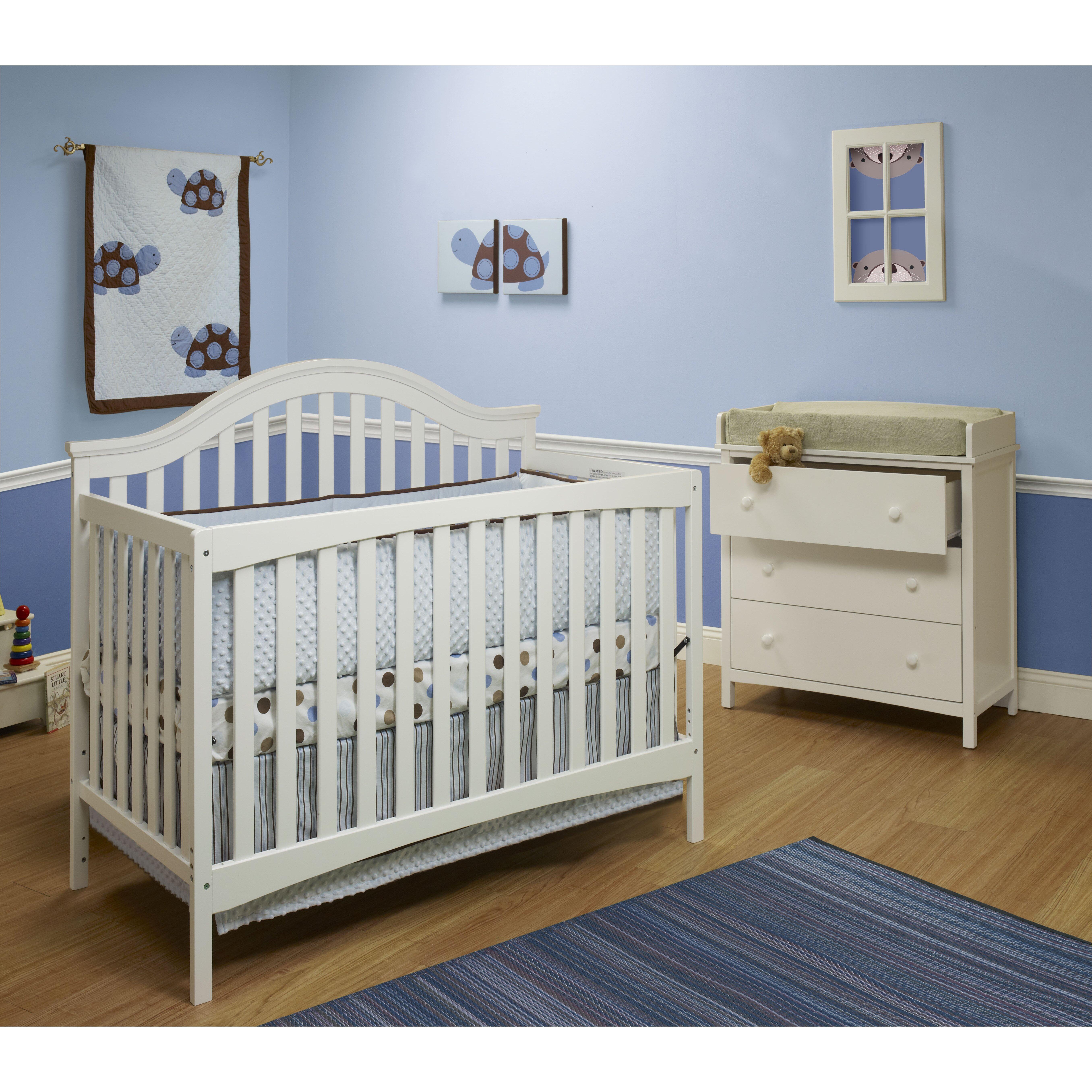 Baby crib mattress frame - Sorelle Lynn 4in1 Convertible Crib