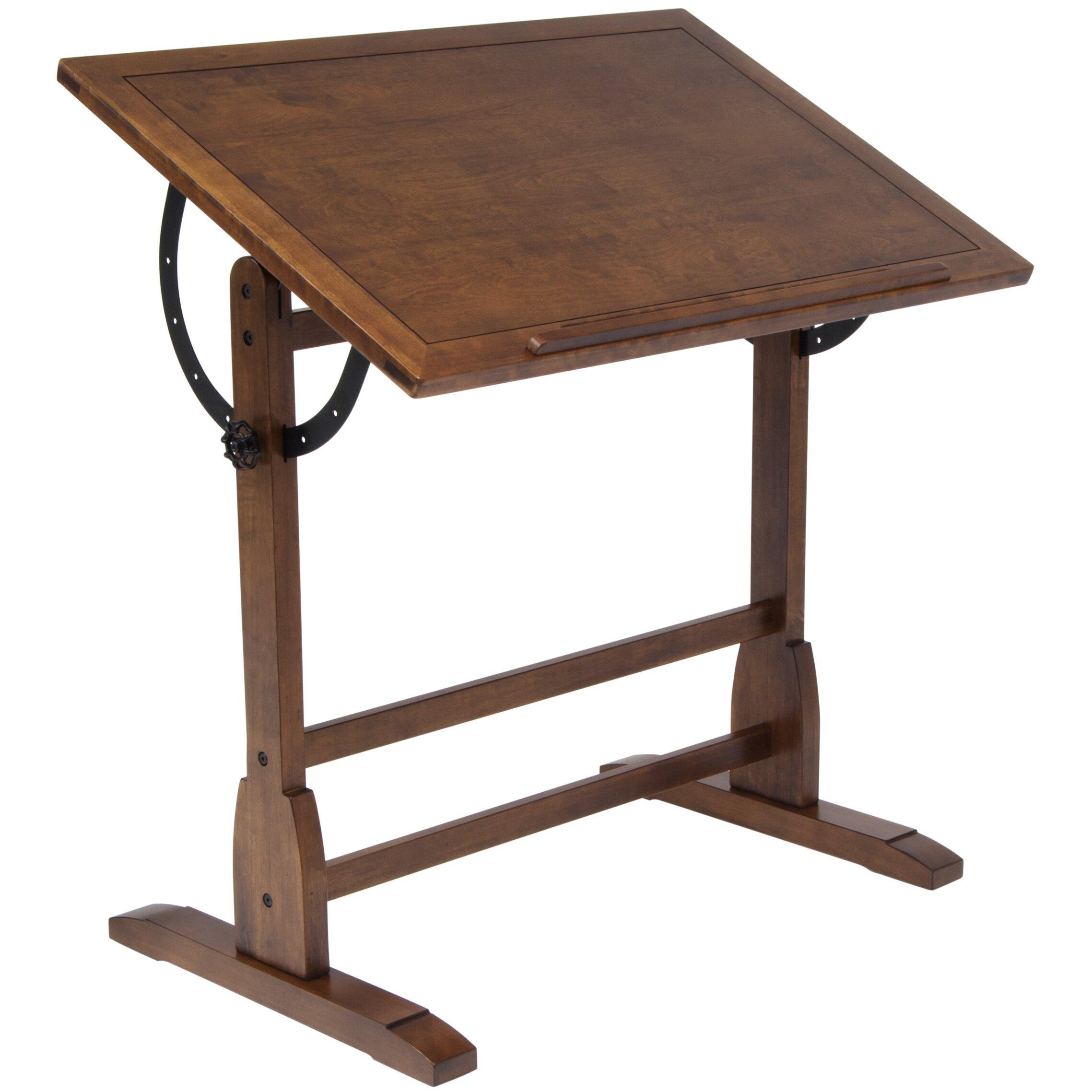 Studio Designs Vintage Wood Drafting Table amp Reviews Wayfair