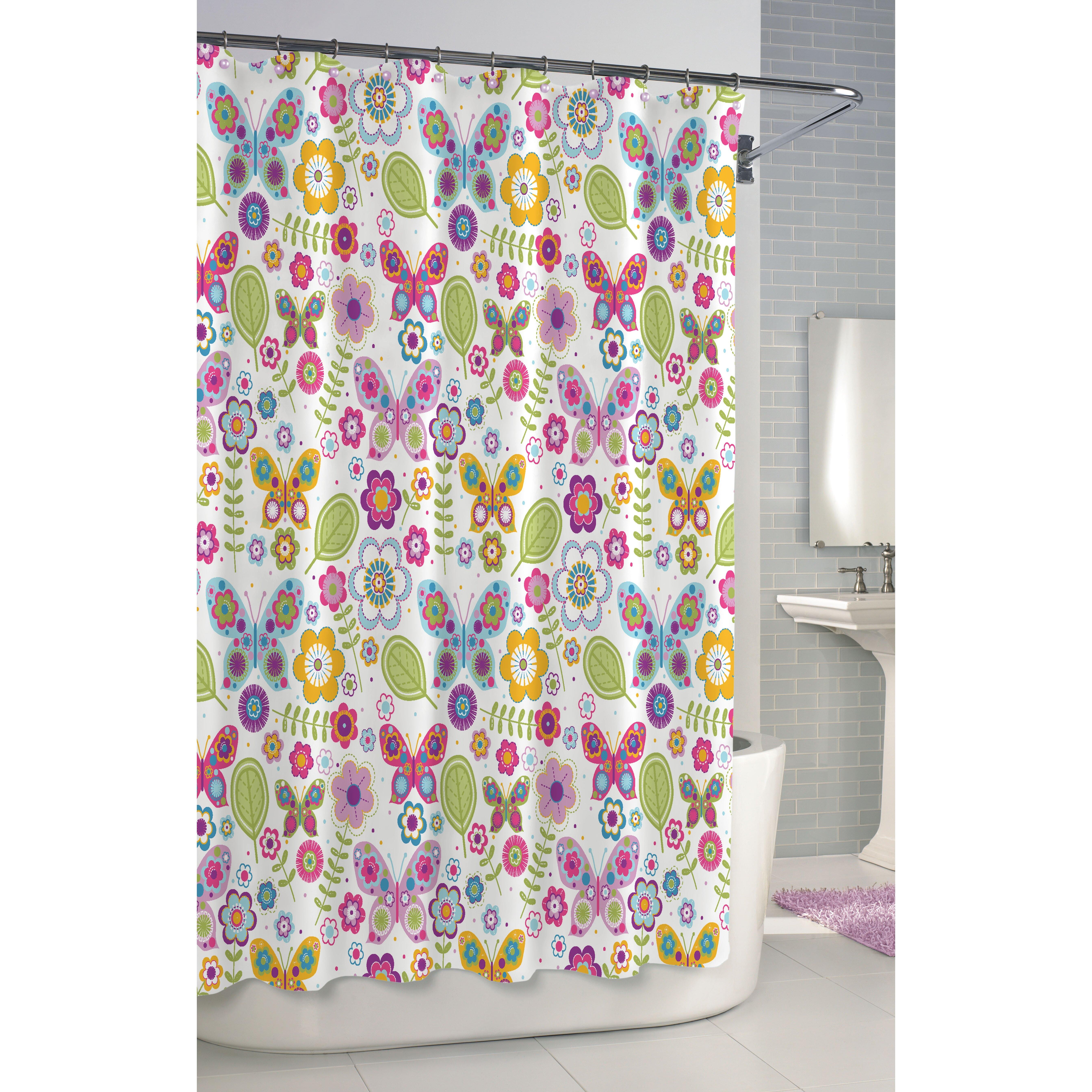 Purple butterfly curtains - Purple Butterfly Shower Curtains Kassatex Fine Linens Bambini Shower Curtain Cotton Butterfly Shower Curtain