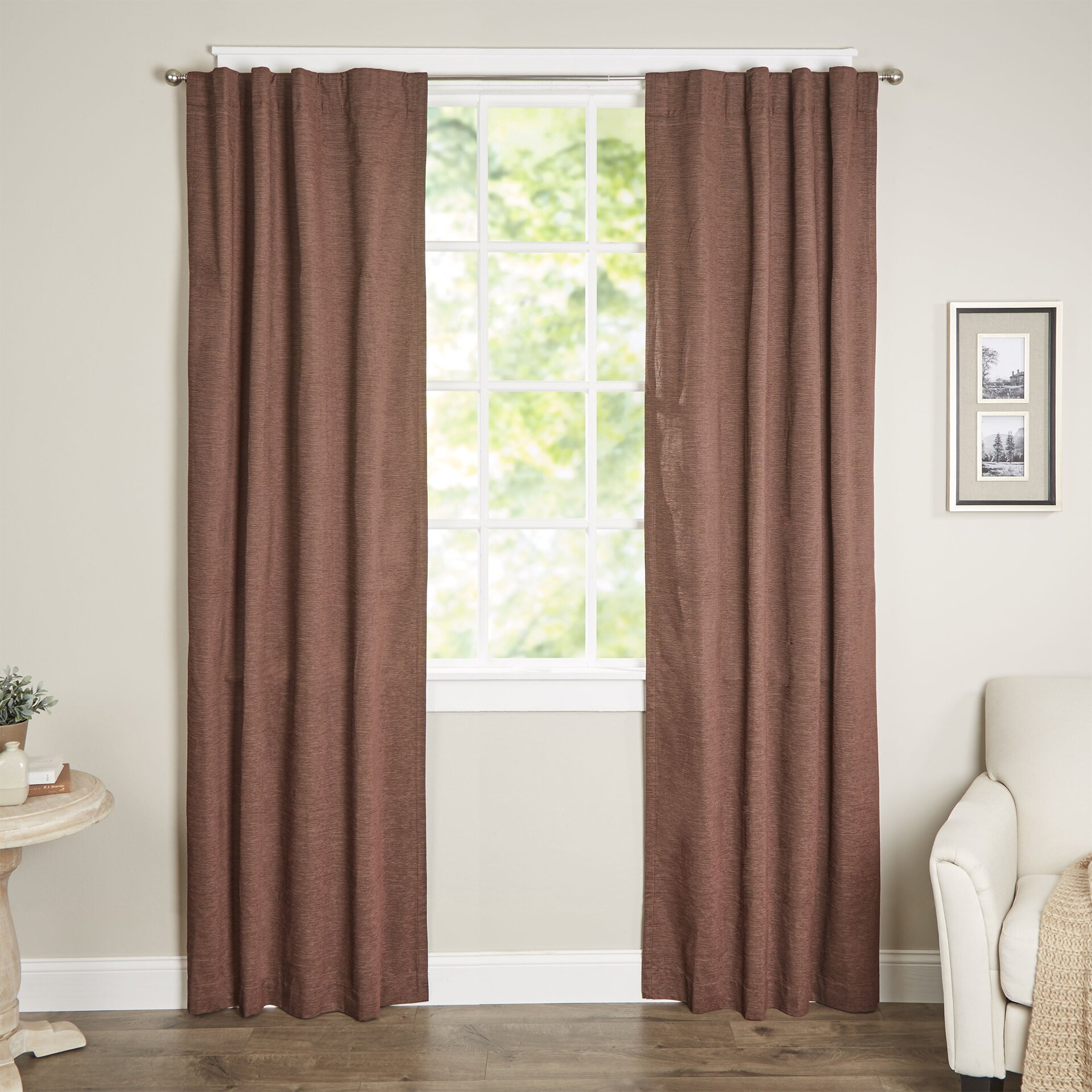 beautyrest room darkening blackout thermal single curtain panel