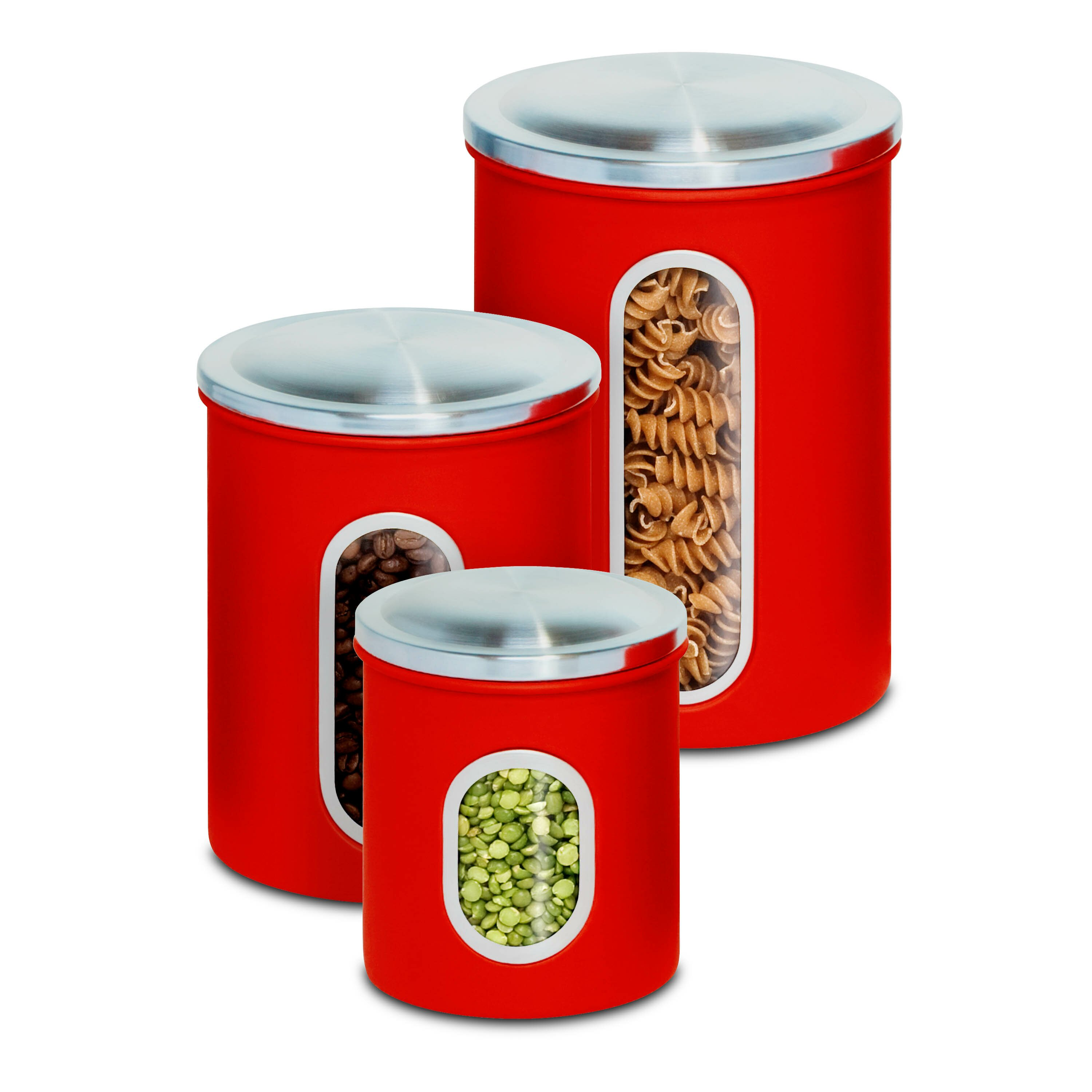 honey can do 3 piece kitchen canister set amp reviews fresh ceramic kitchen canisters canada 20235
