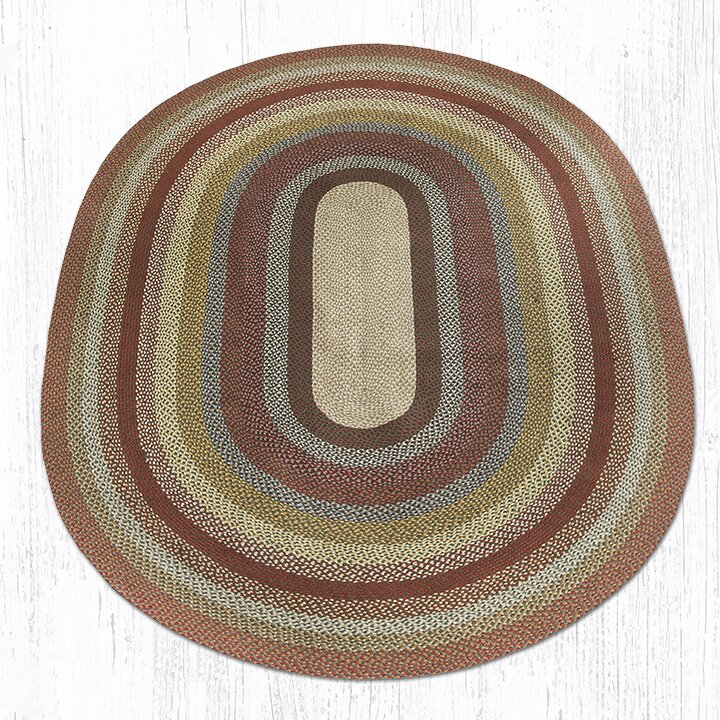 Earth Rugs Honey/Vanilla/Ginger Braided Area Rug
