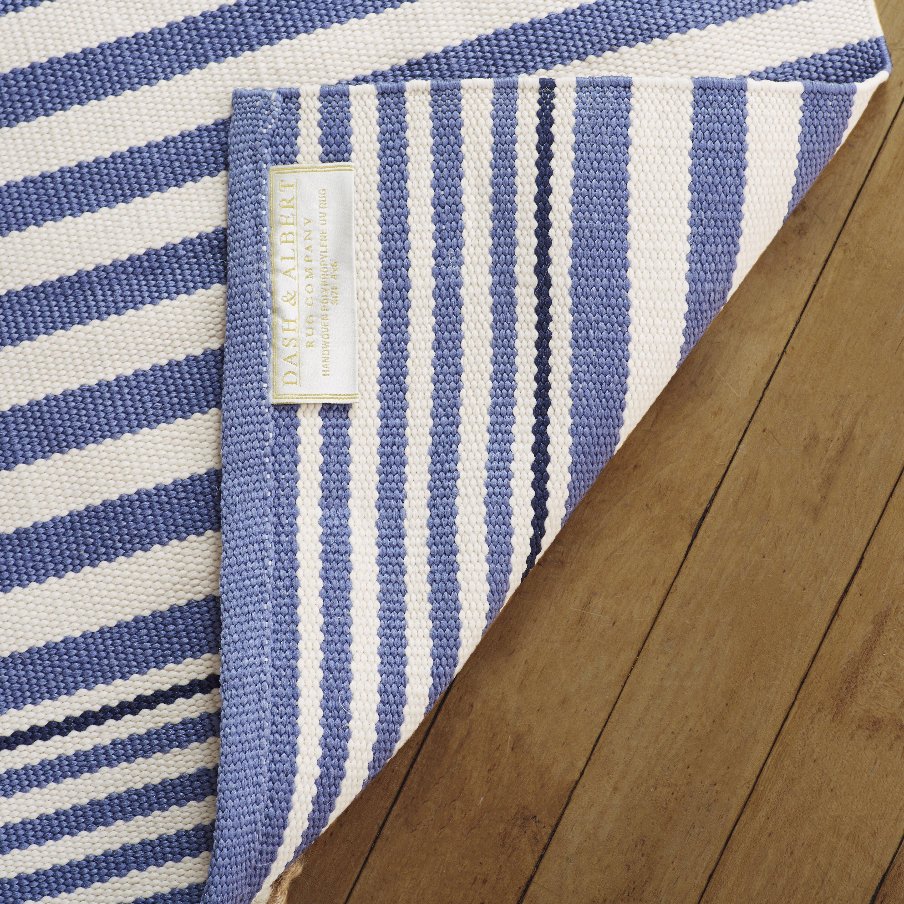 Dash and albert rugs indoor outdoor hand woven blue area for Albert and dash outdoor rugs