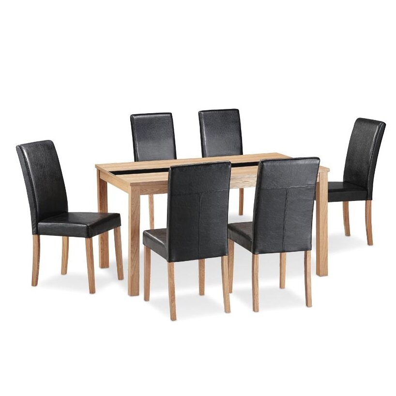 Home Zone Furniture Dining Table And 6 Chairs Reviews