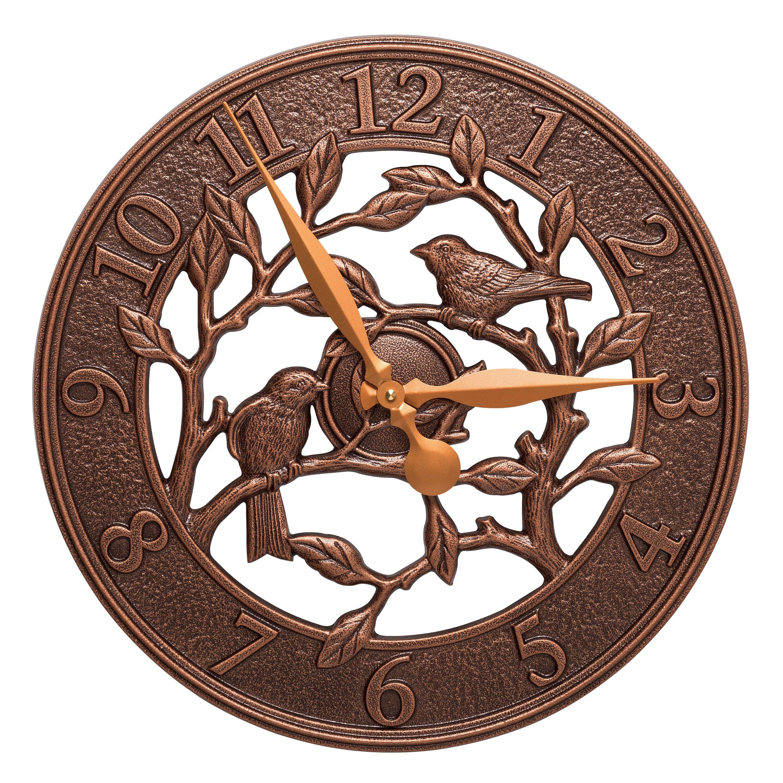 Whitehall Products 16 Quot Woodridge Indoor Outdoor Wall Clock