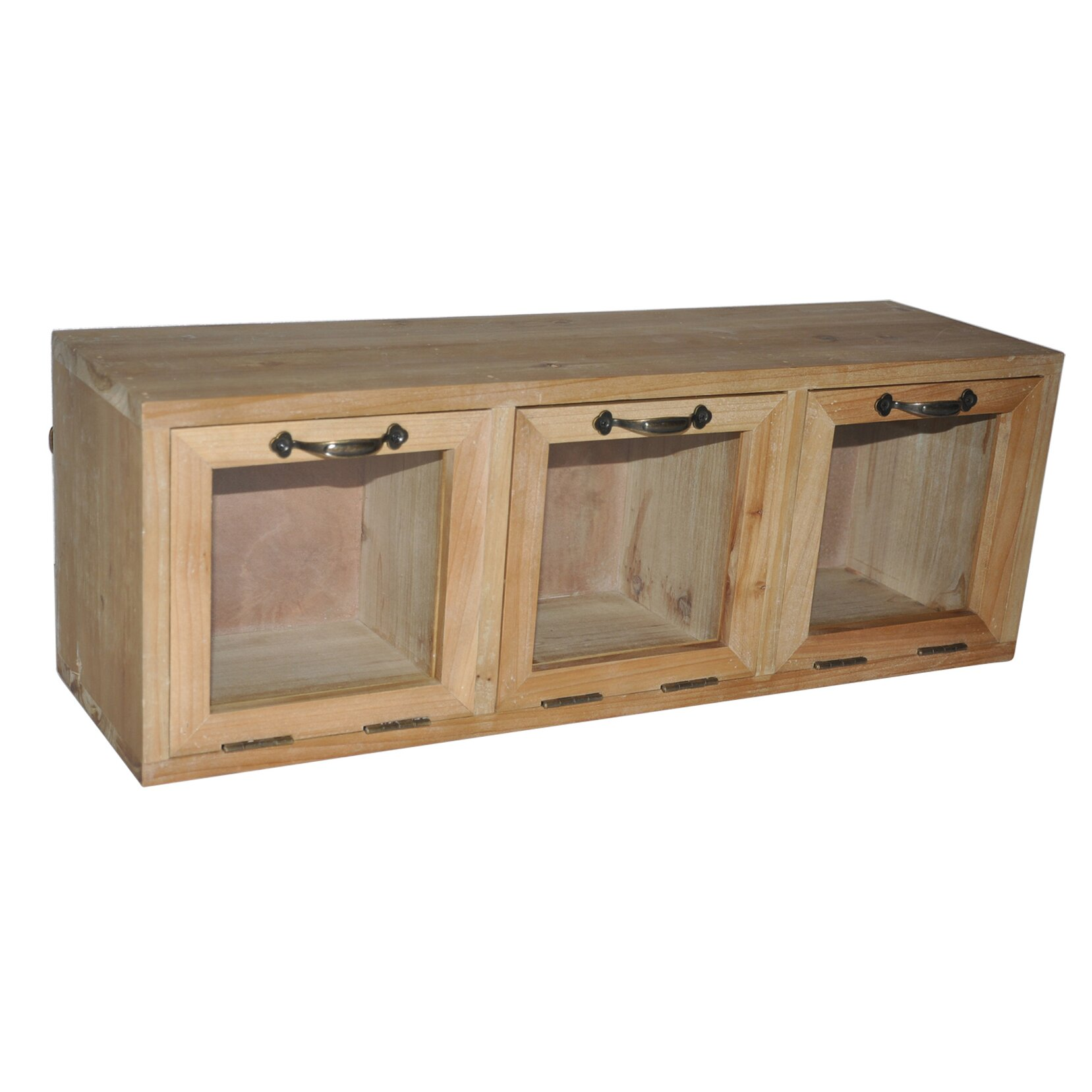 Wooden Storage Cabinets With Doors Cheungs Wood Hanging Storage Cabinet With Glass Doors Reviews