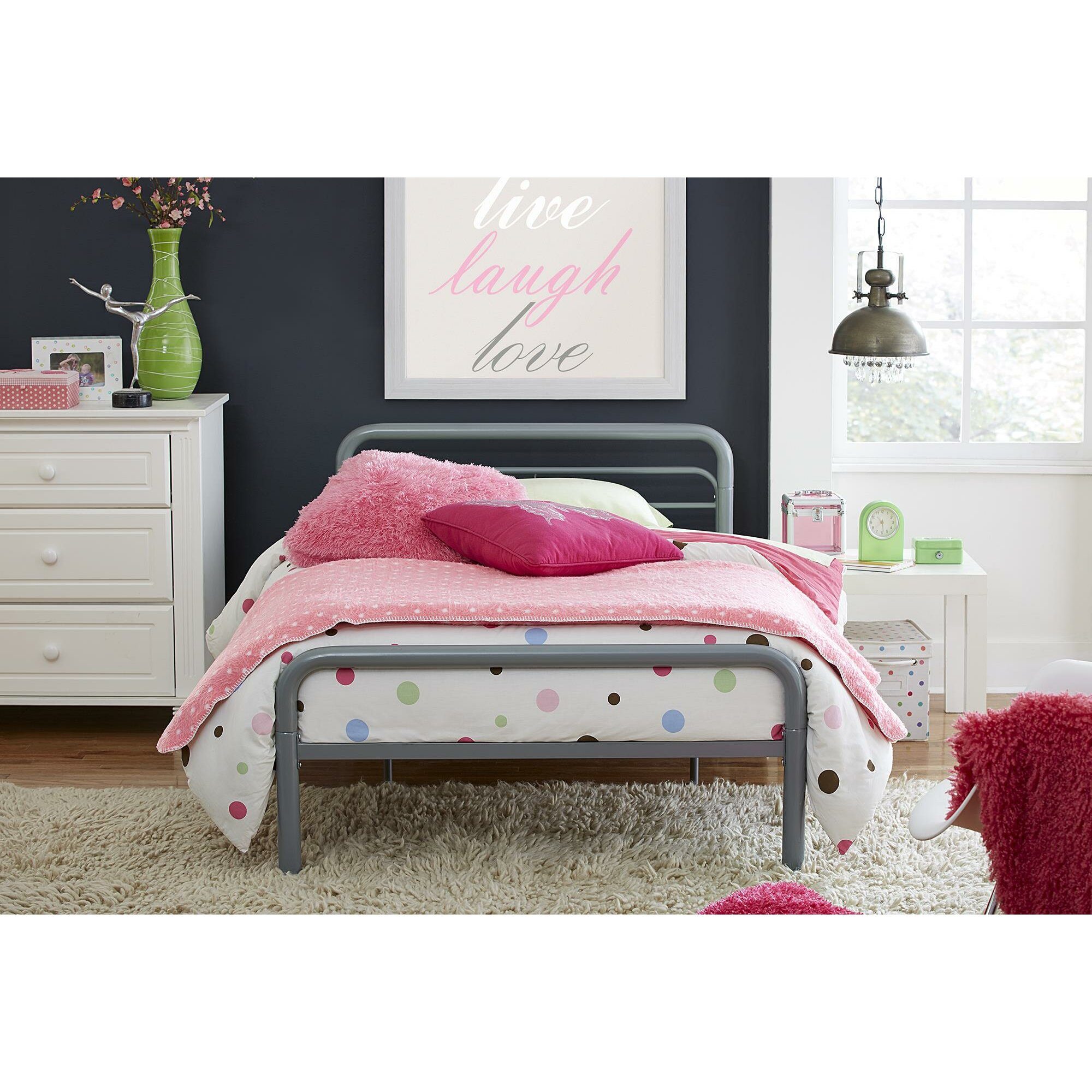 Twin Platform Bed Metal Kids Beds You ll Love Wayfair  Sleigh Silver Dhp  Beds VesmaEducation. Sleigh Gold Dhp Beds   getpaidforphotos com