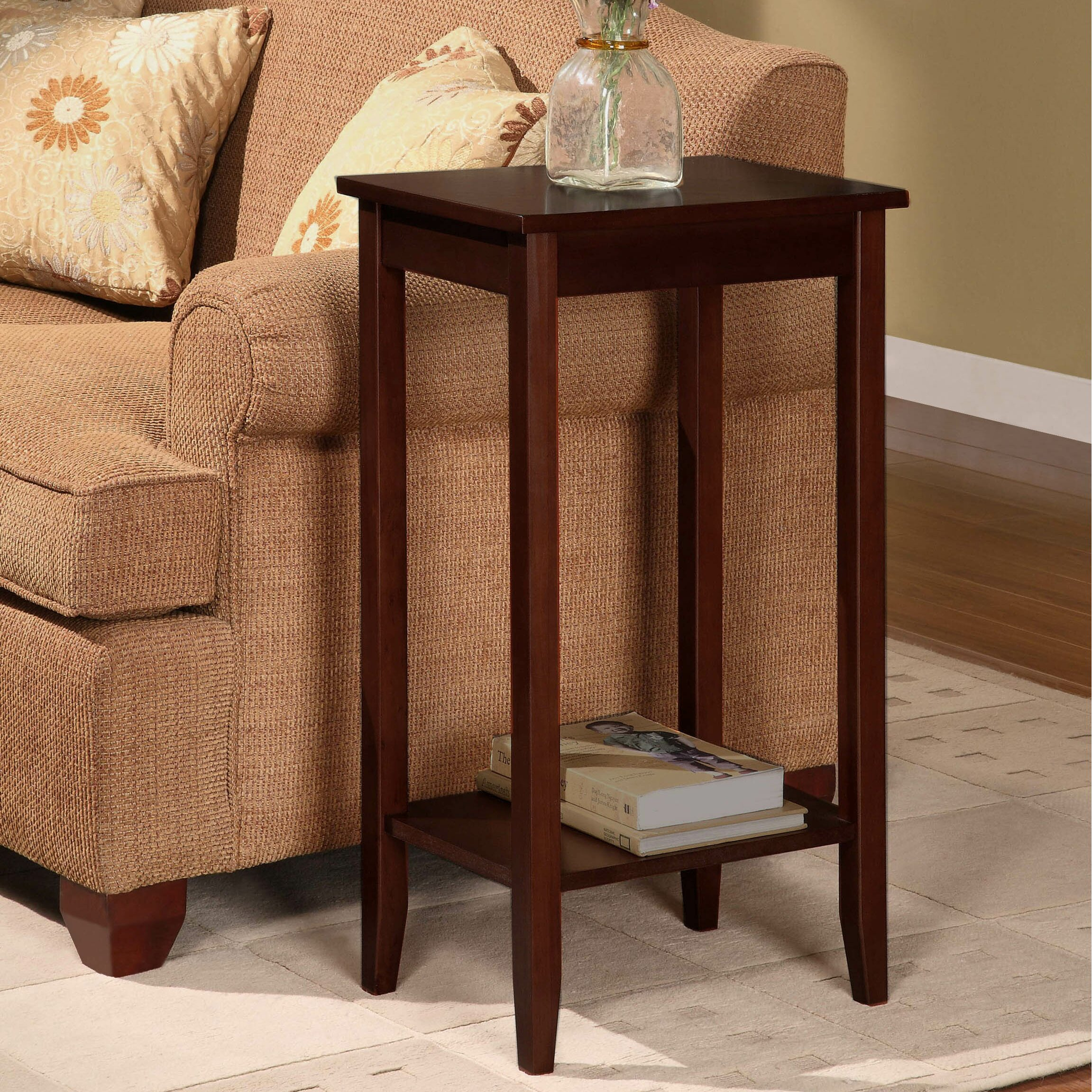 dhp rosewood tall end table reviews wayfair. Black Bedroom Furniture Sets. Home Design Ideas