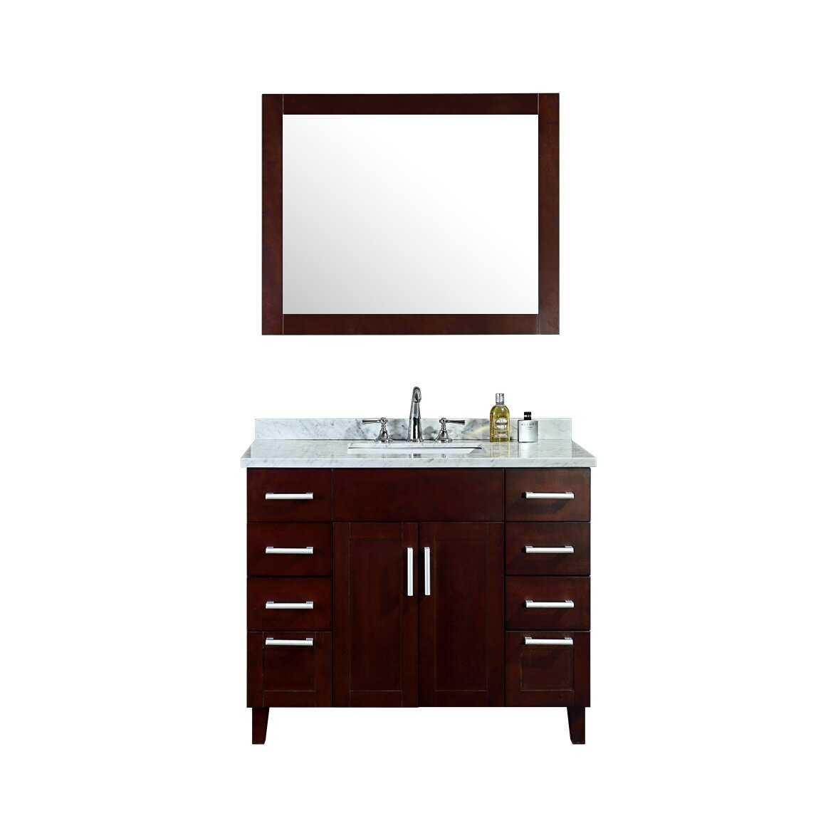 42 Bathroom Vanity Ariel Bath Frampton 42 Single Bathroom Vanity Set With Mirror