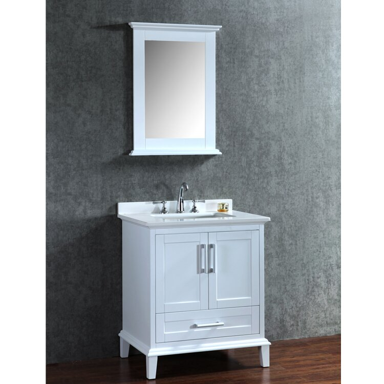 ariel bath nantucket 30 single sink bathroom vanity set with mirror