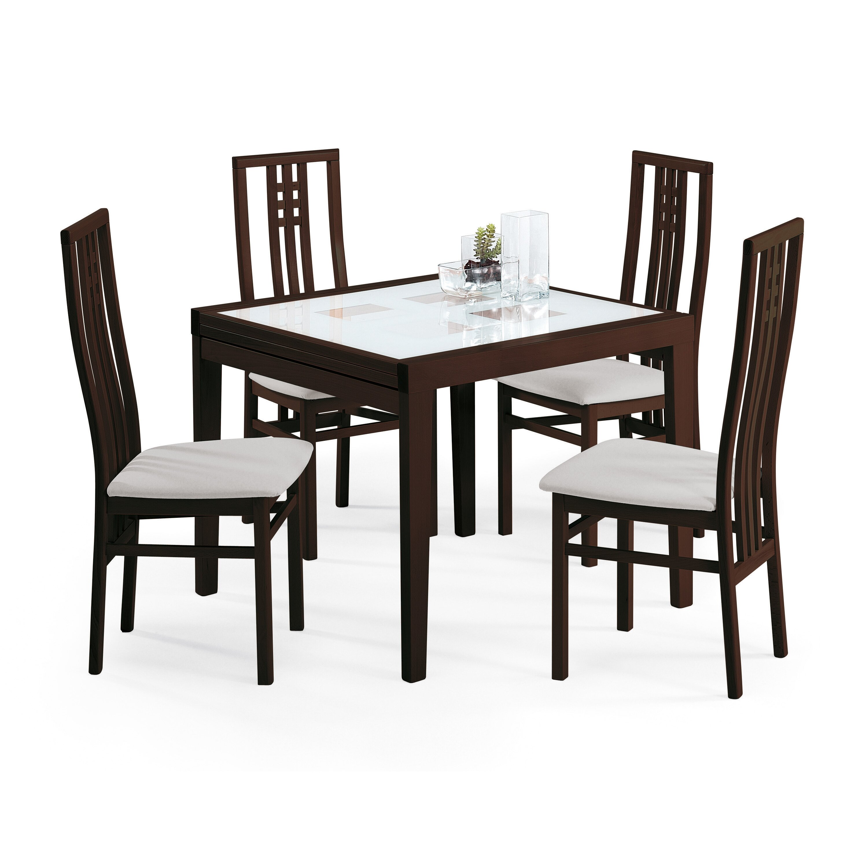 Poker Dining Room Table: Poker-90 Extendable Dining Table & Reviews