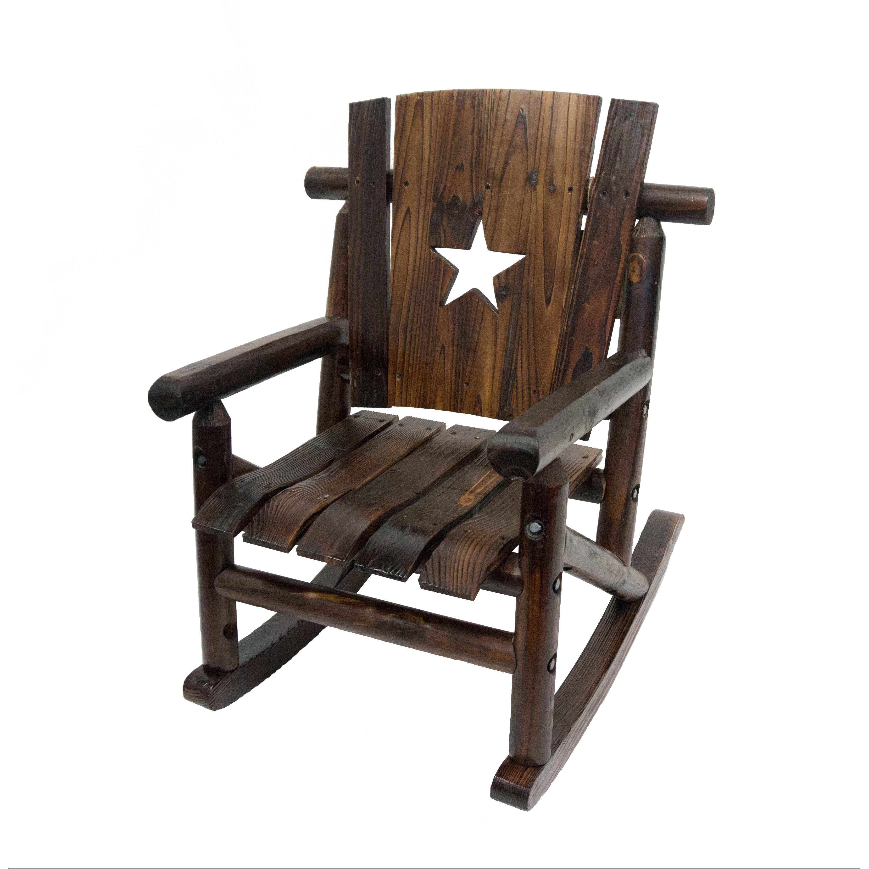 ... -log Junior Lil Cut Out Star Single Rocking Chair II by LeighCountry