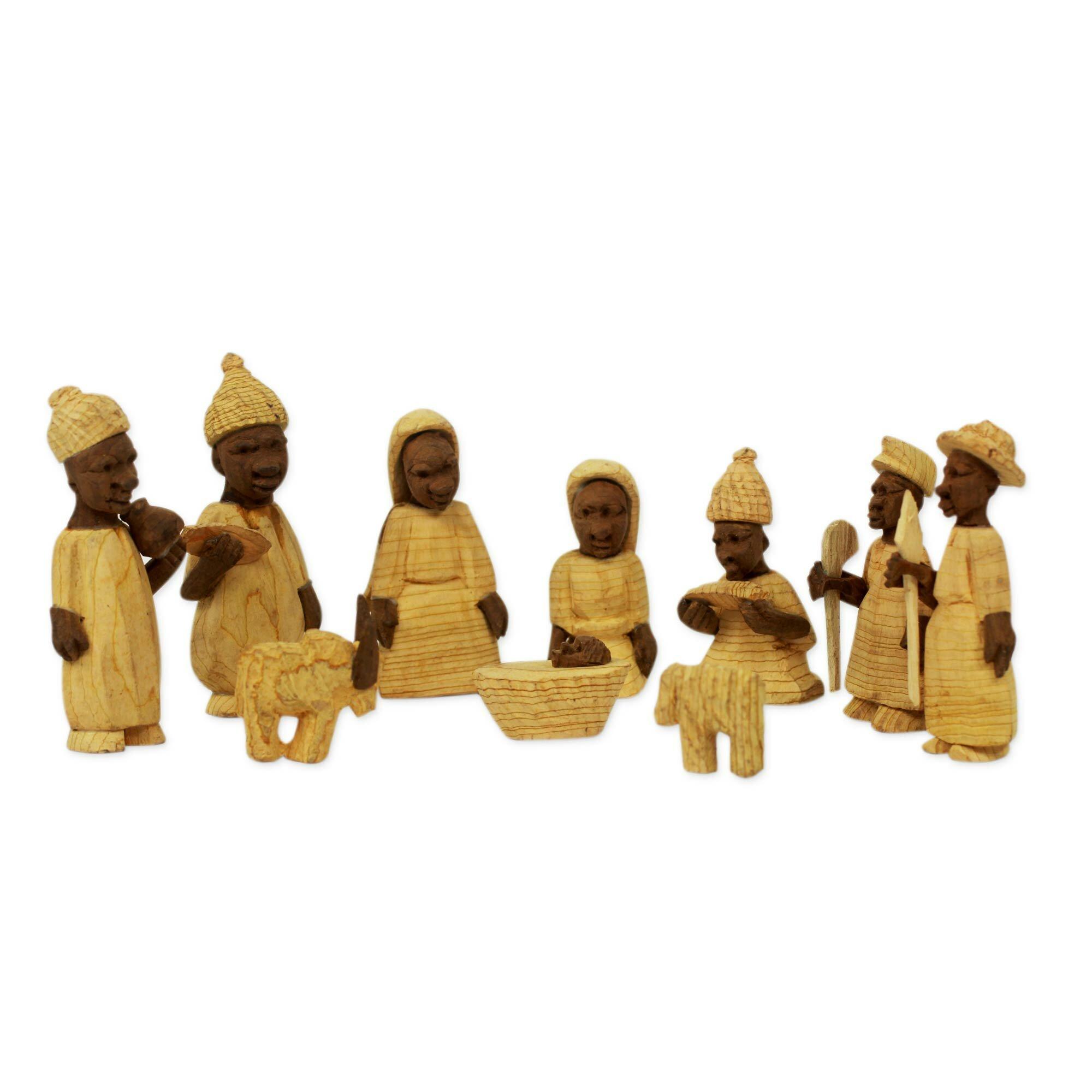 Novica 10 Piece African Themed Nativity Scene Set Wayfair