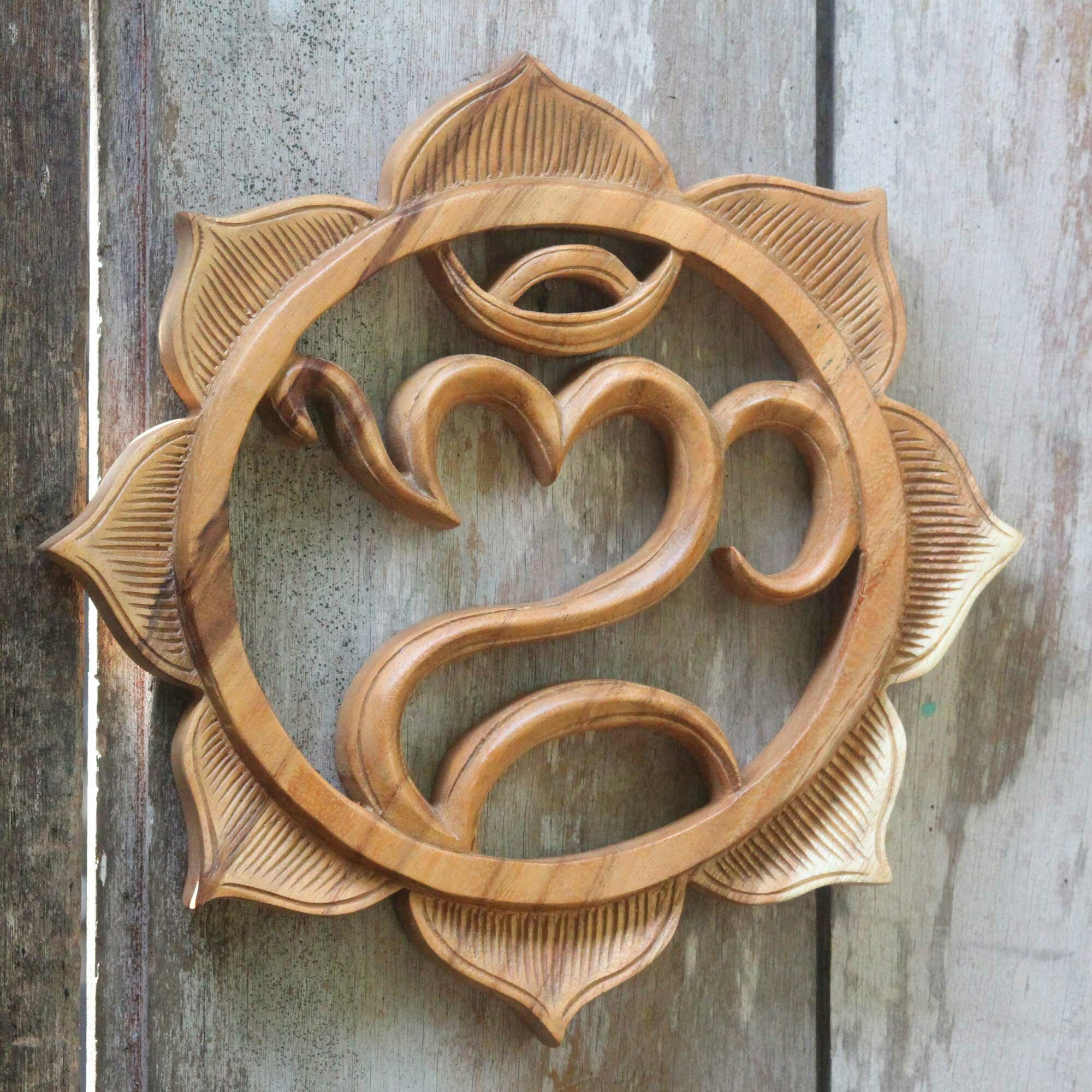 Wood Carved Wall Decor Novica Made Mulyani Artisan Carved Balinese Hindu Wood Relief