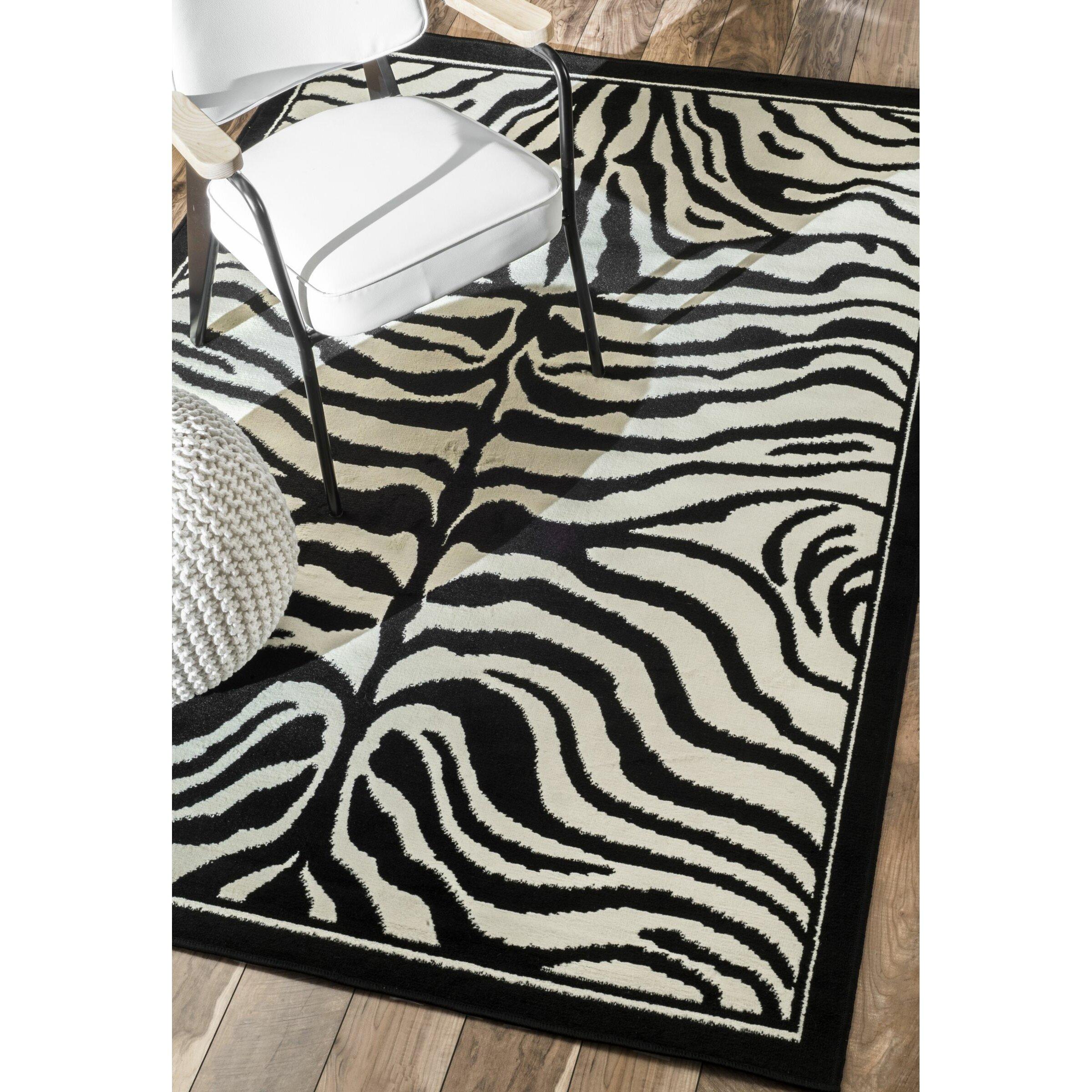 Black And White Zebra Rug Roselawnlutheran