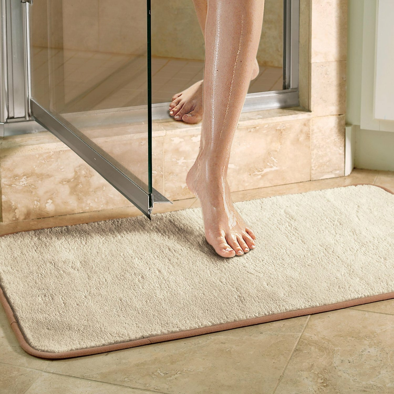 Violet Linen Microfiber Absorbing Bath Mat Bathroom Rug