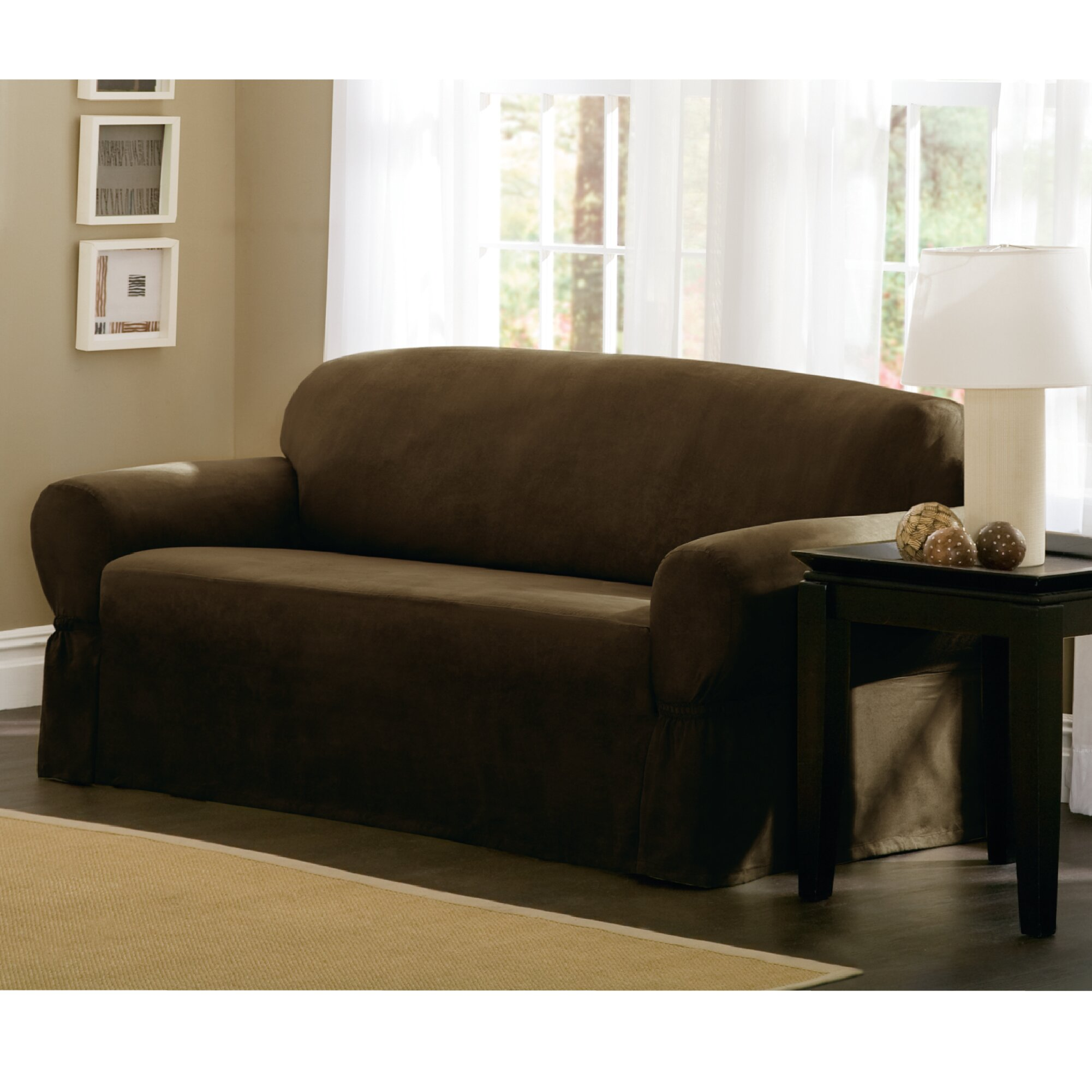 maytex t cushion loveseat sofa slipcover reviews. Black Bedroom Furniture Sets. Home Design Ideas