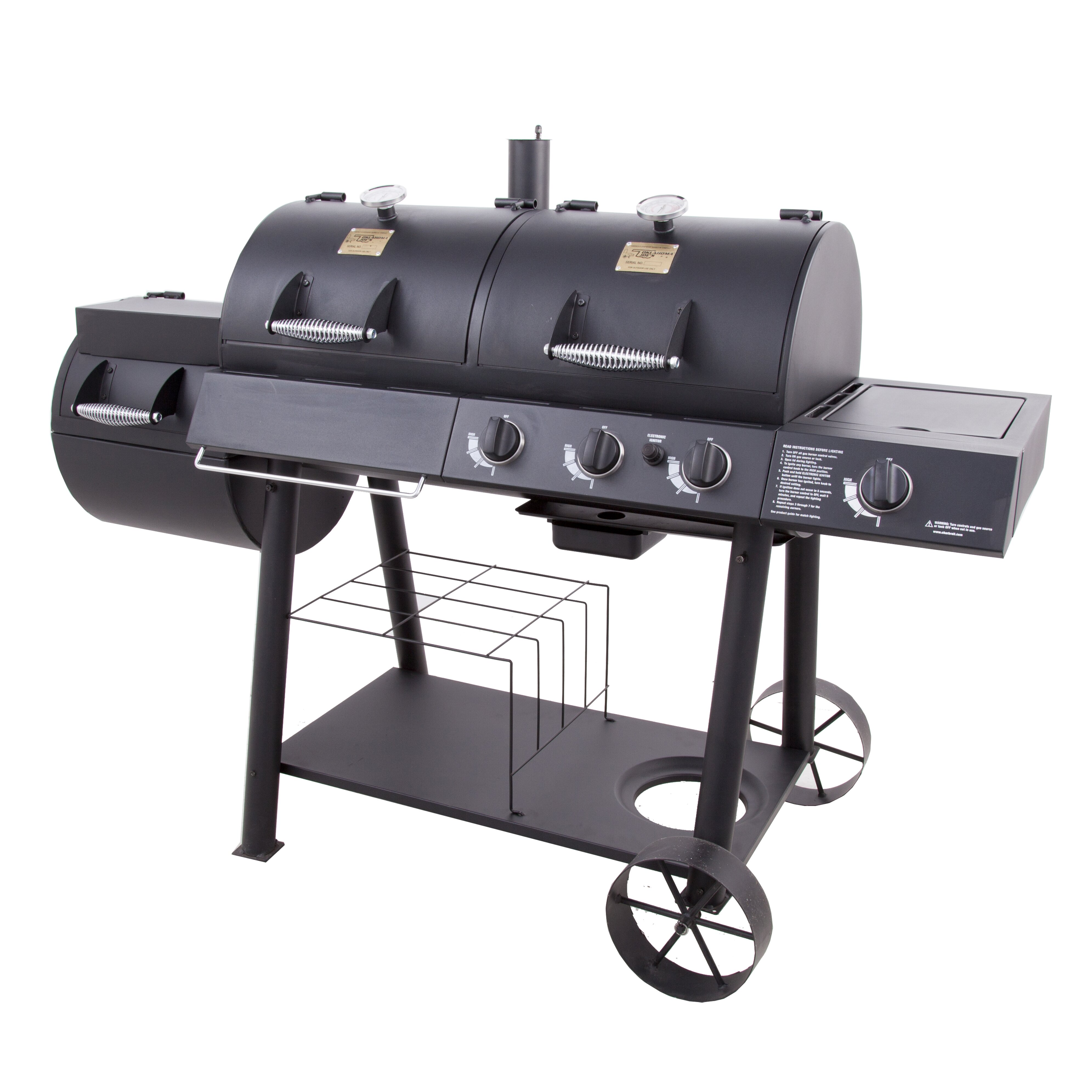 charbroil oklahoma joe 39 s offset propane smoker gas grill reviews. Black Bedroom Furniture Sets. Home Design Ideas