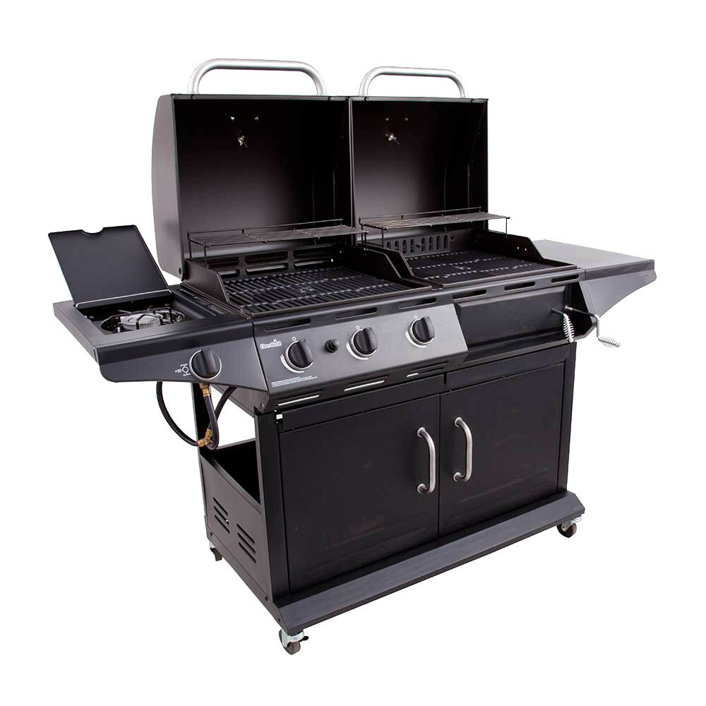 charbroil 3 burner deluxe combo propane gas and charcoal. Black Bedroom Furniture Sets. Home Design Ideas