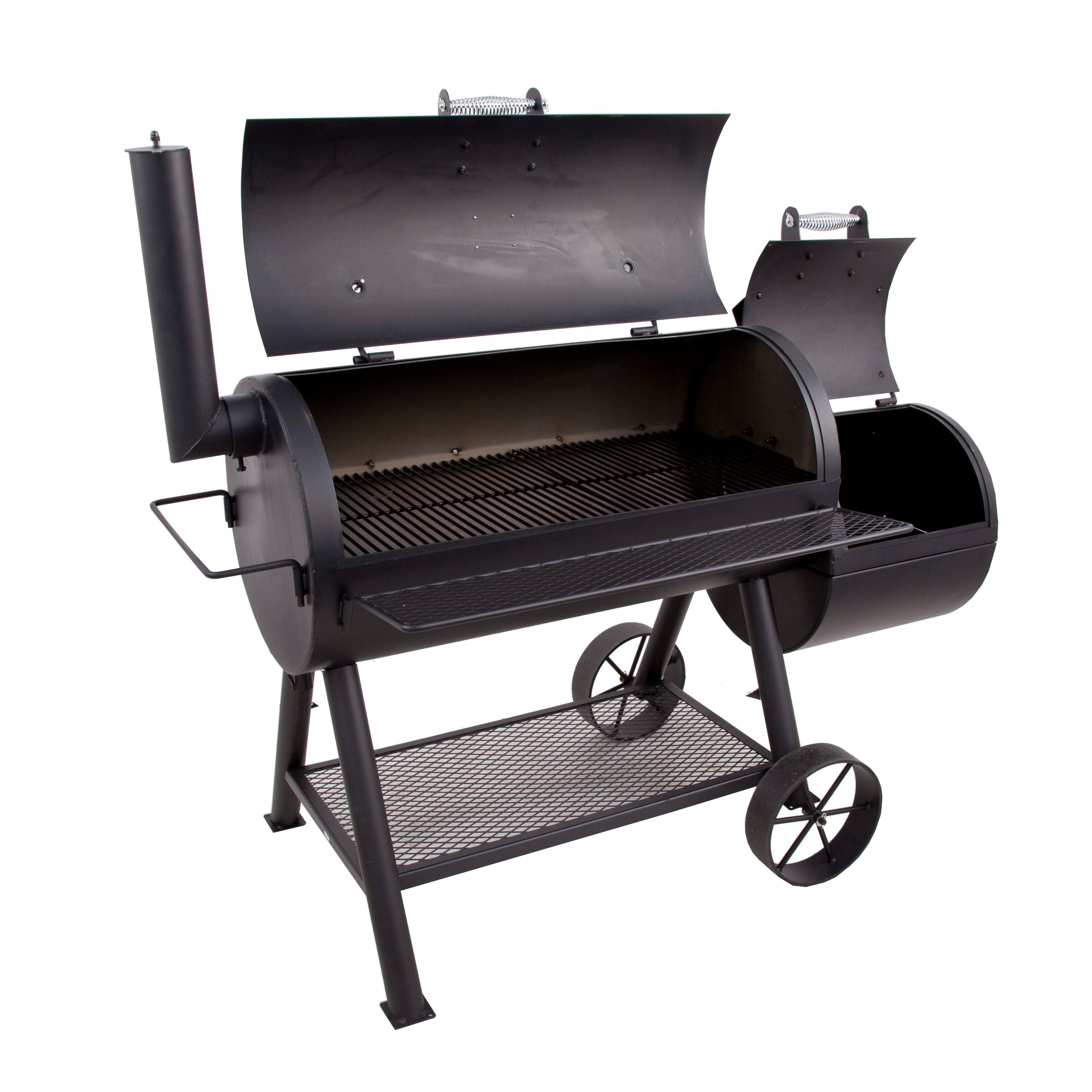 charbroil oklahoma joe 39 s longhorn offset smoker and. Black Bedroom Furniture Sets. Home Design Ideas