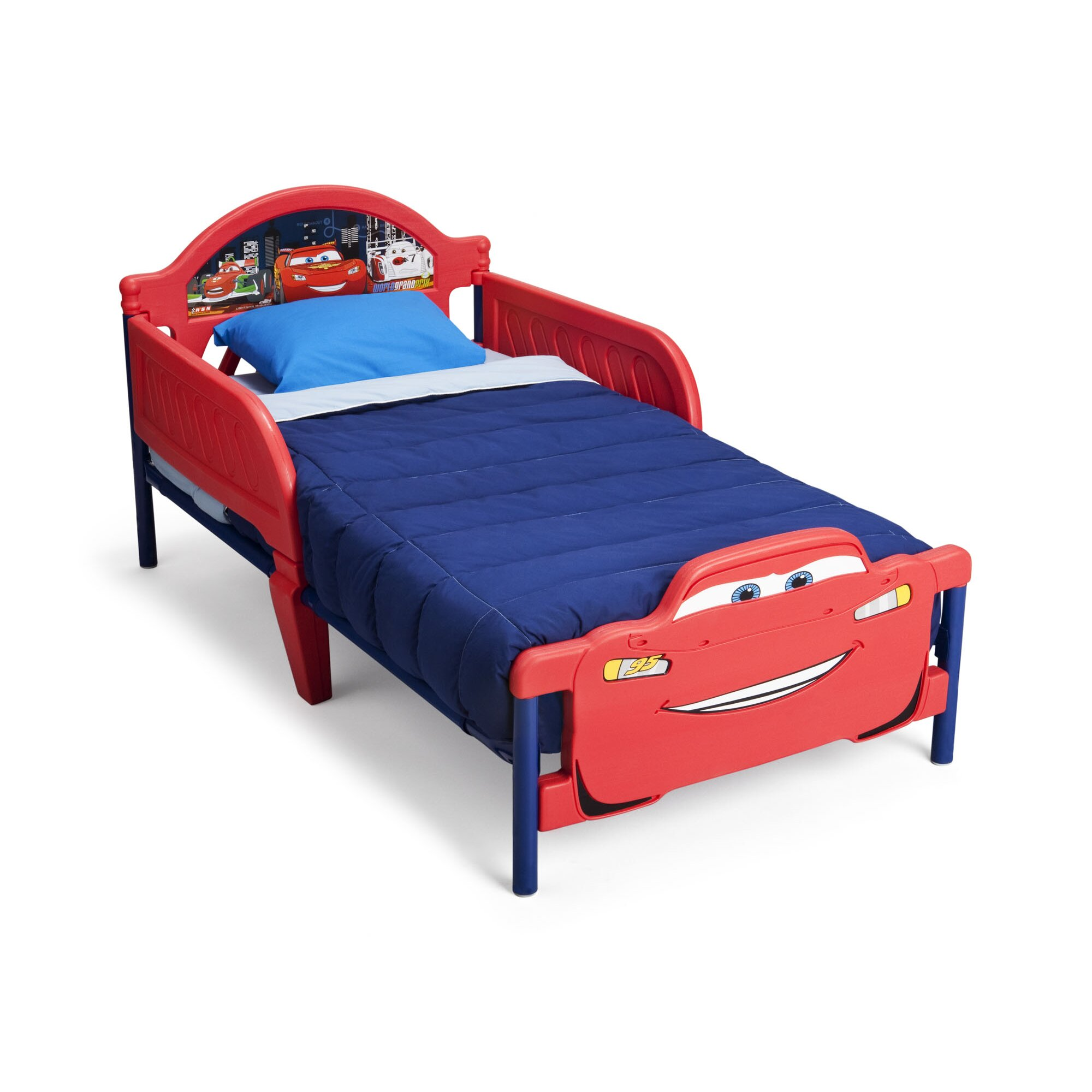 Little tikes lightning mcqueen toddler bed - Disney Cars 3d Convertible Toddler Bed