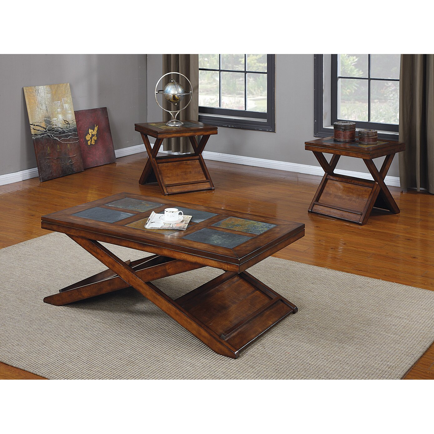 Acme Furniture Benicia 3 Piece Coffee Table Set Amp Reviews