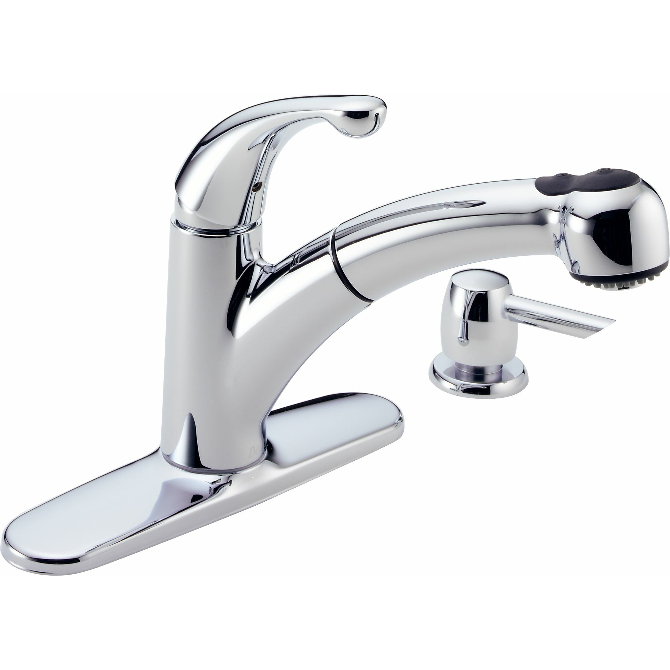 Delta Chrome Kitchen Faucets Delta Palo Single Handle Centerset Kitchen Faucet Reviews Wayfair