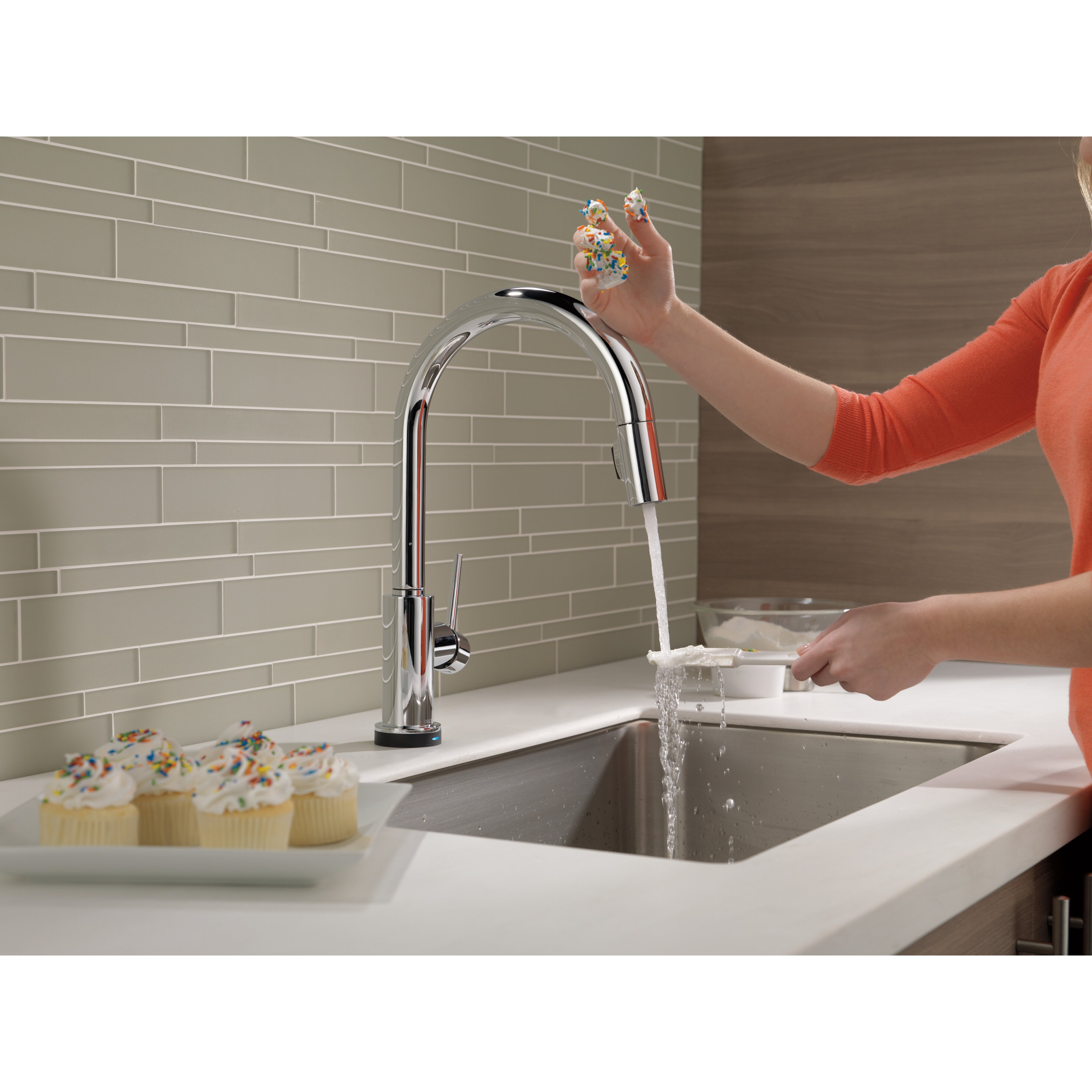 Trinsic Kitchen Single Handle Pull Down Standard Kitchen Faucet