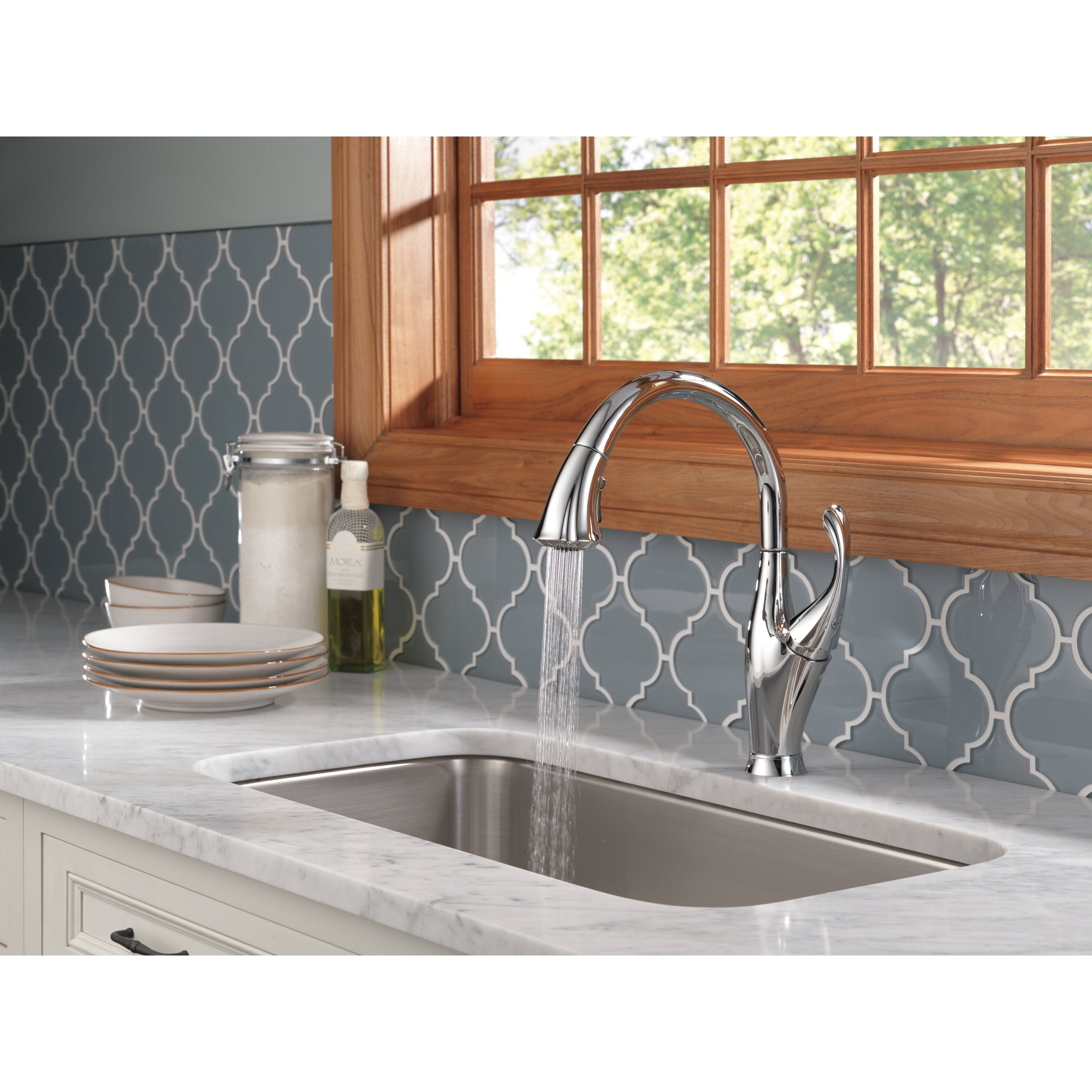 Delta Touch2o Kitchen Faucet Delta Addison Single Handle Pull Down Standard Kitchen Faucet