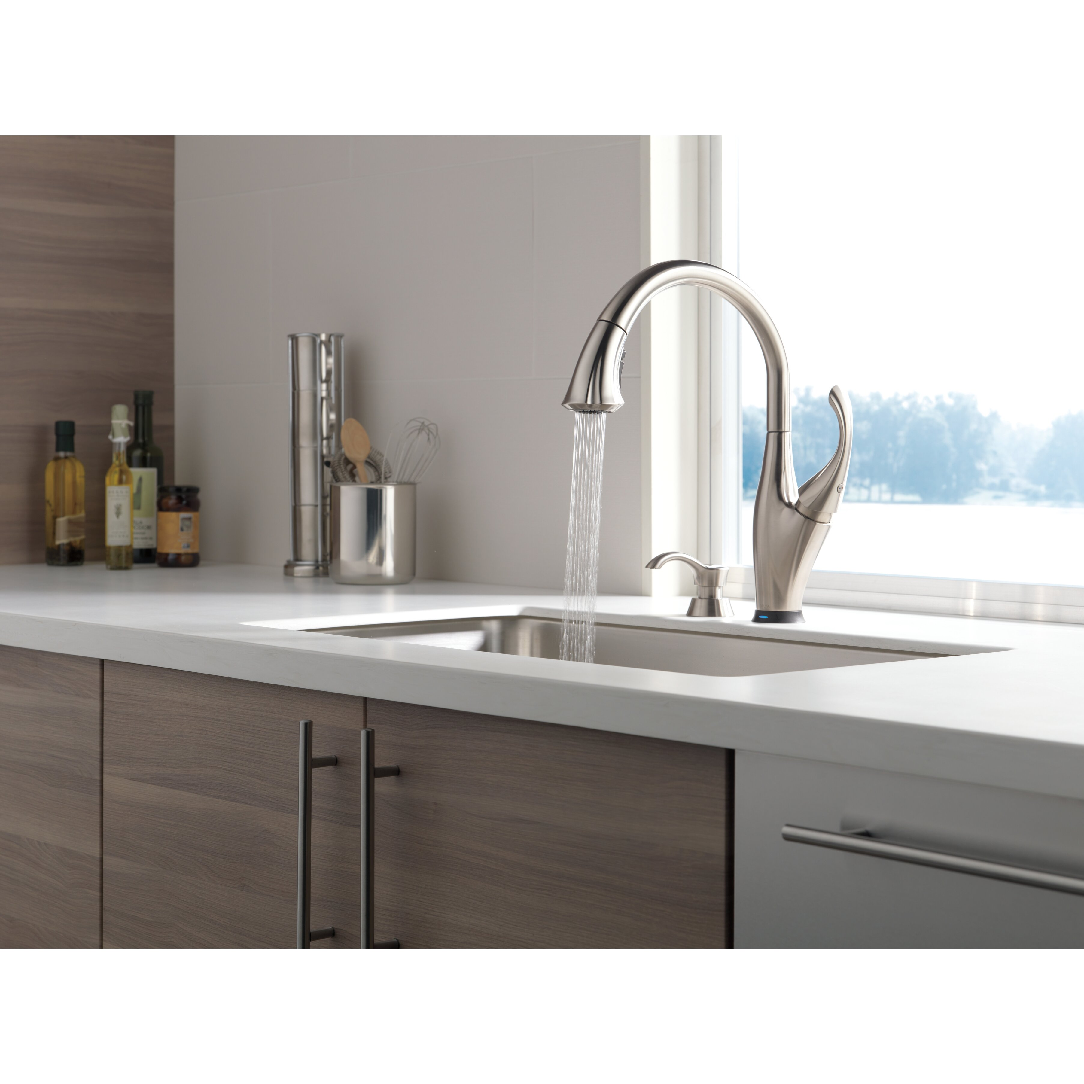 delta addison touchless single handle standard kitchen delta discontinued 9192 ss dst addison single handle pull