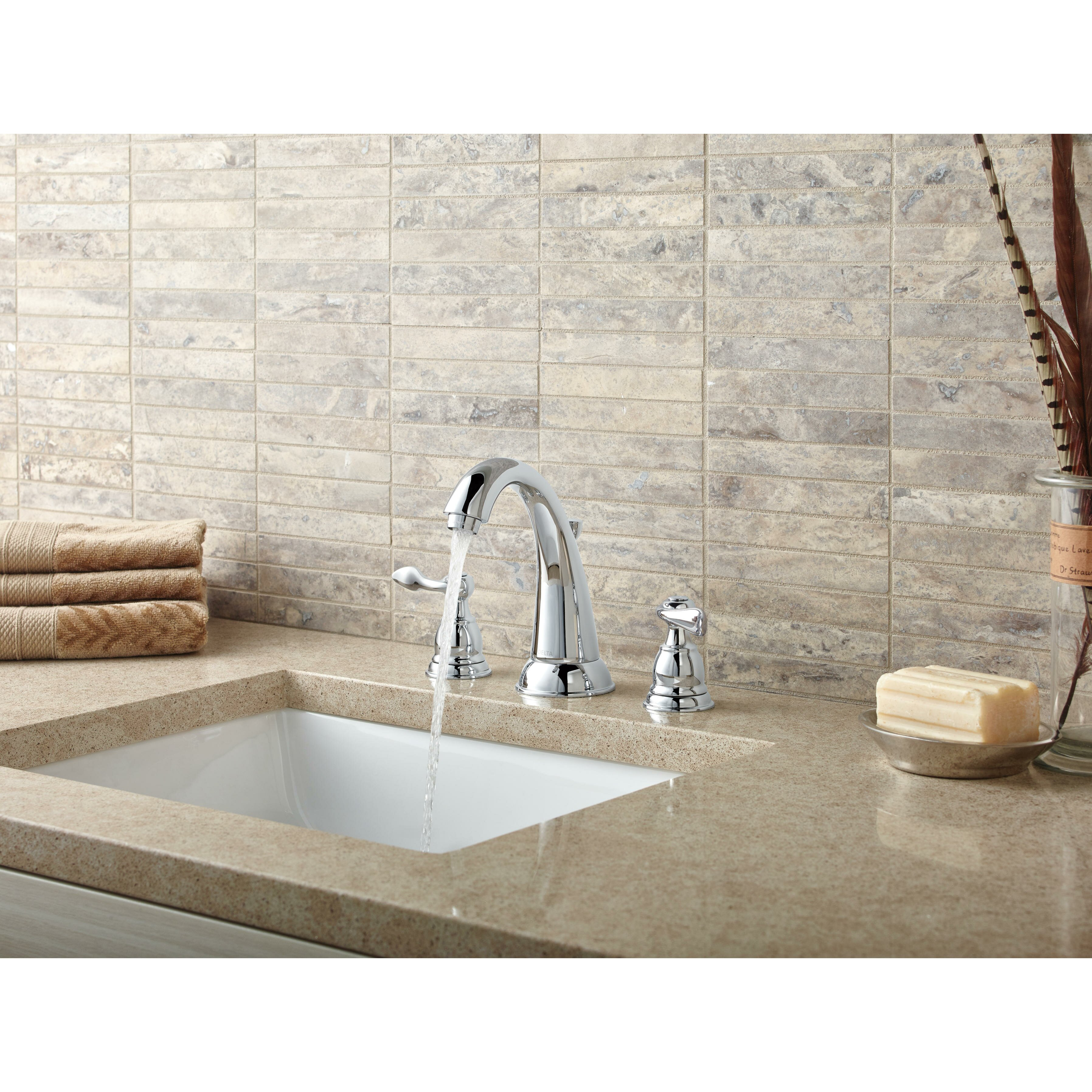 Discontinued Delta Kitchen Faucets Delta Windemere Widespread Bathroom Faucet With Double Lever