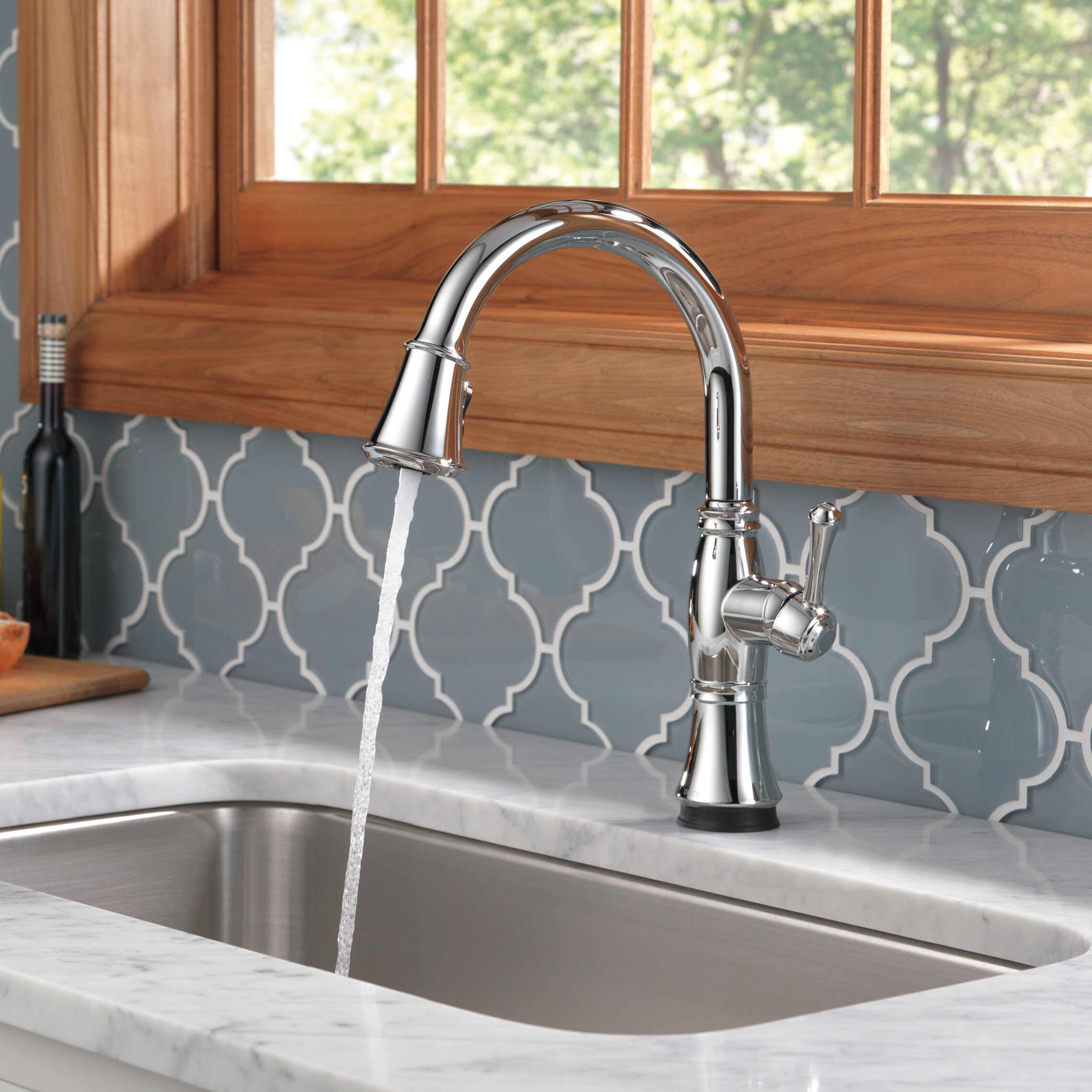 Delta Kitchen Faucet Reviews Delta Cassidy Single Handle Standard Kitchen Faucet Reviews