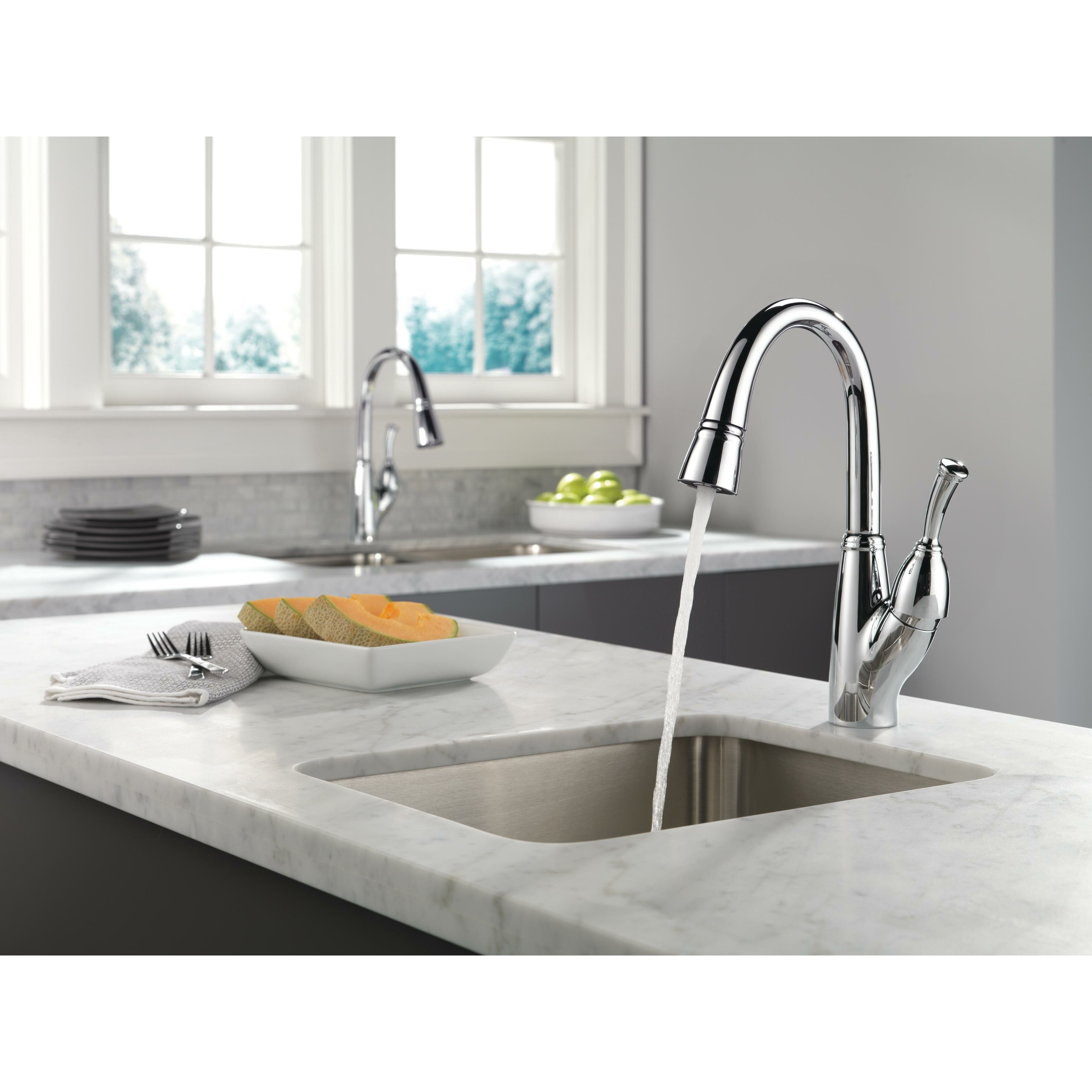 Delta Pull Out Kitchen Faucet Delta Allora Single Handle Deck Mounted Bar Faucet With Pull Out