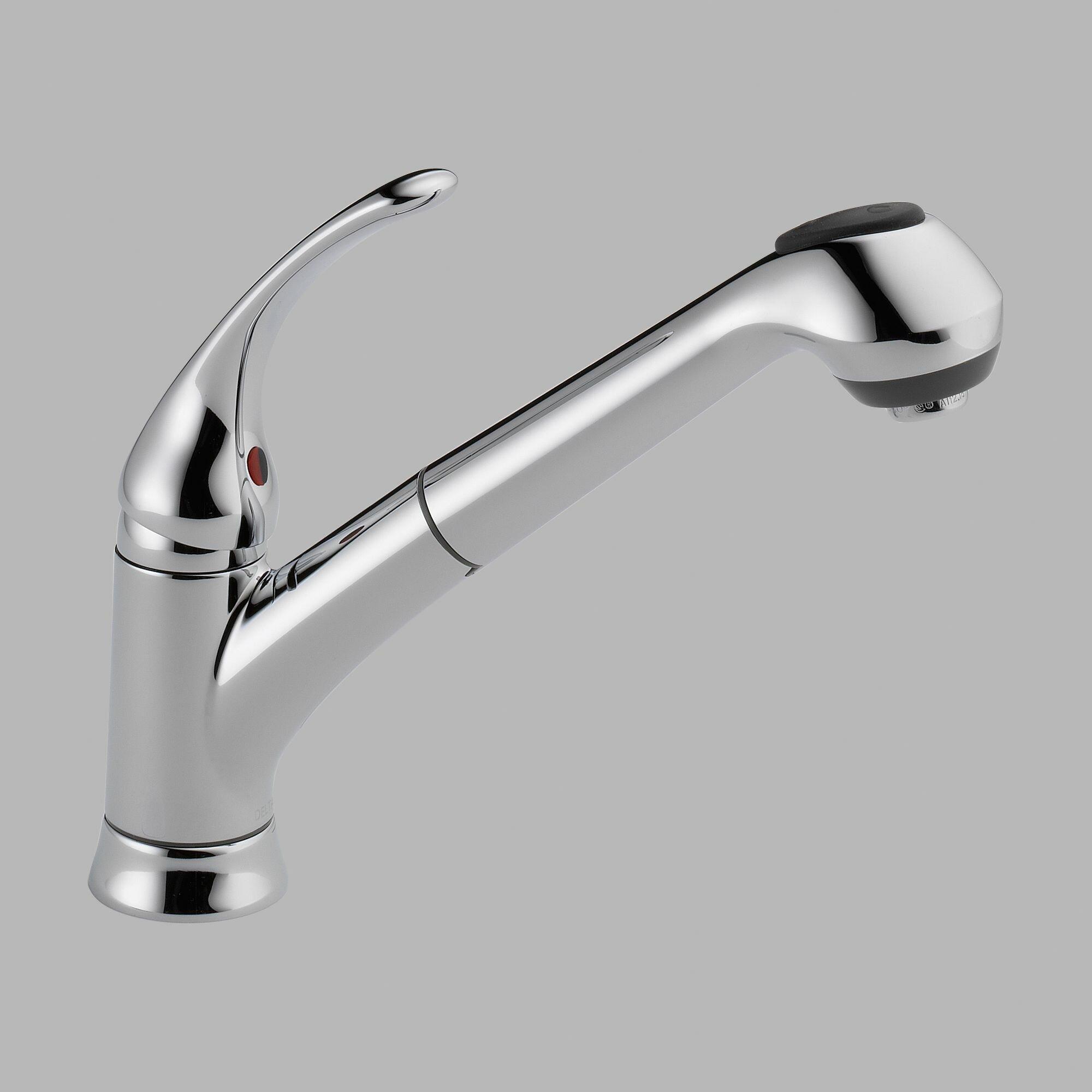 Delta Kitchen Sink Faucets Delta Foundations Single Handle Deck Mounted Kitchen Faucet